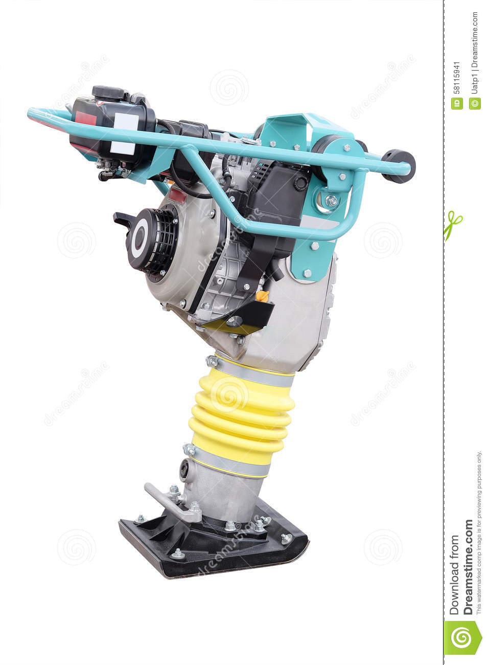 Manual Road Repair Machine Stock Image  Image Of