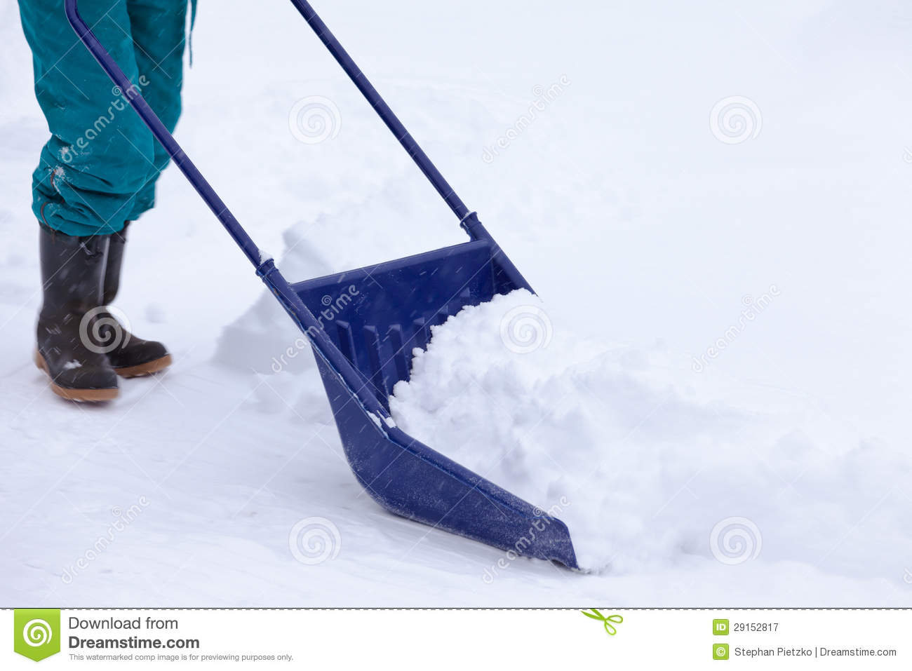 Snow Plow Prices >> Manual Snow Removal With Snow Scoop After Blizzard Royalty Free Stock Photography - Image: 29152817