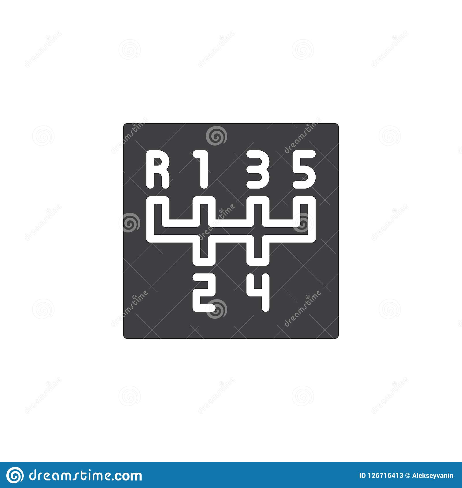 Manual Transmission Vector Icon Stock Vector Illustration Of Design Handle 126716413
