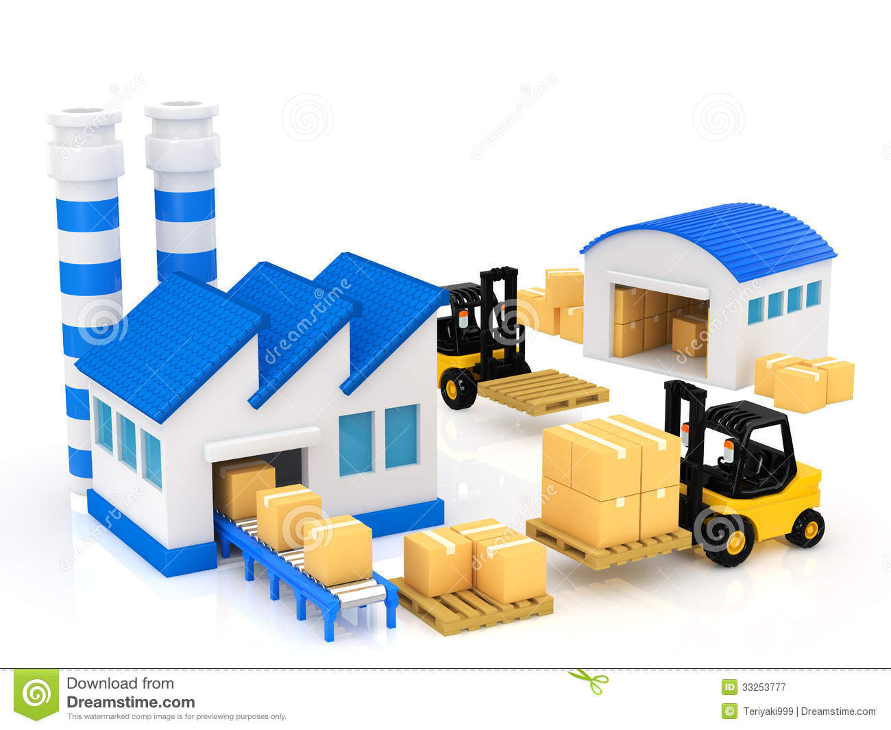 Manufacturing stock illustration illustration of package for Production builder