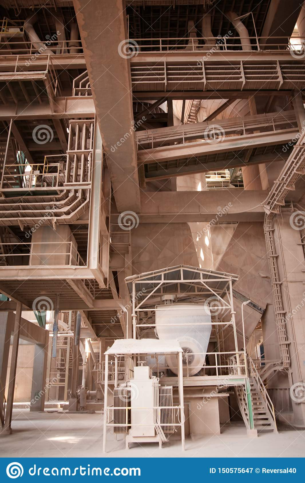 Cement Factory Stock Image. Image Of Factory, Equipment