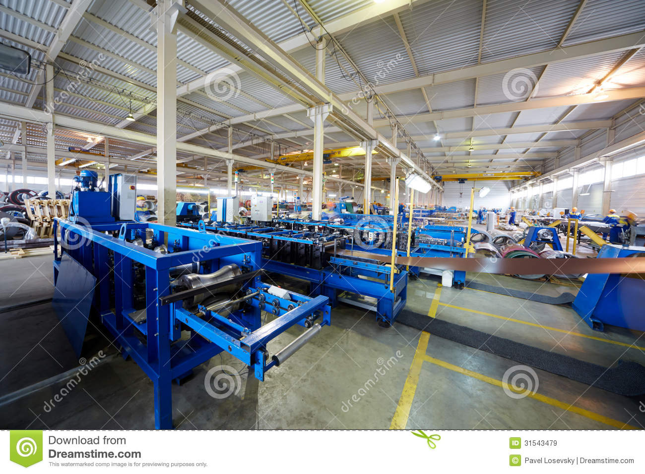 Manufacturing Workshop At Plant Editorial Stock Image
