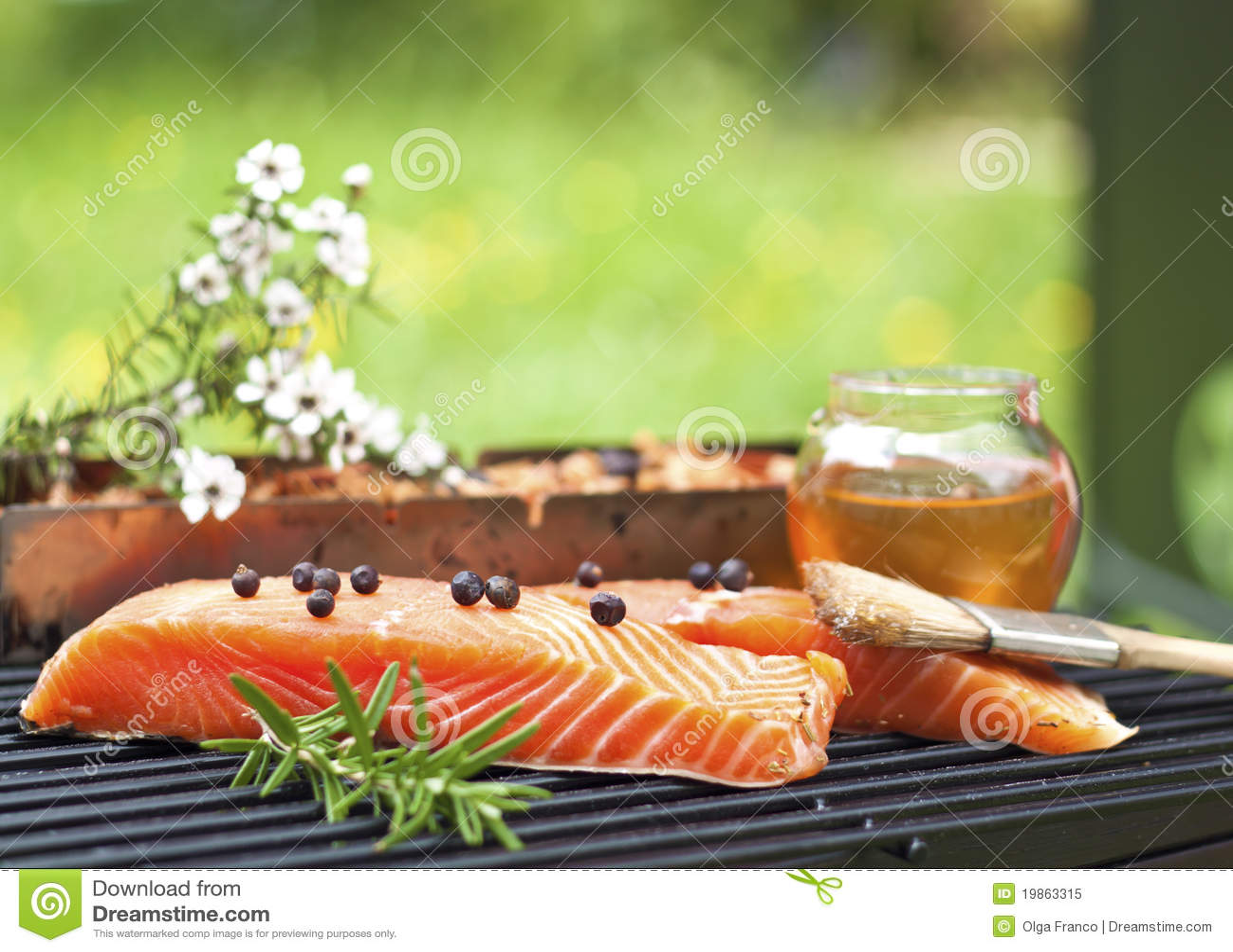 Manuka and honey smoked salmon