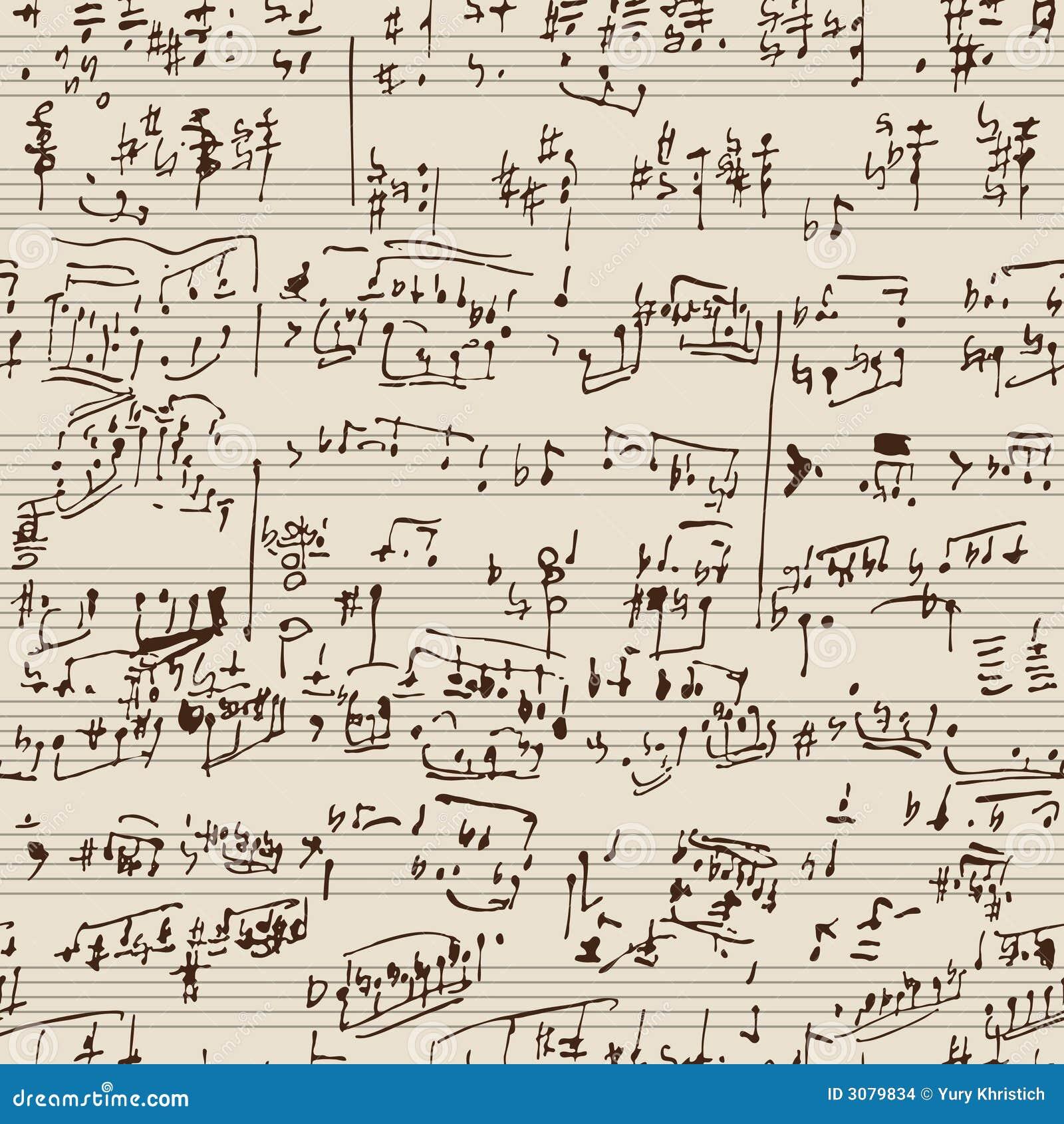 Manuscrit de musique
