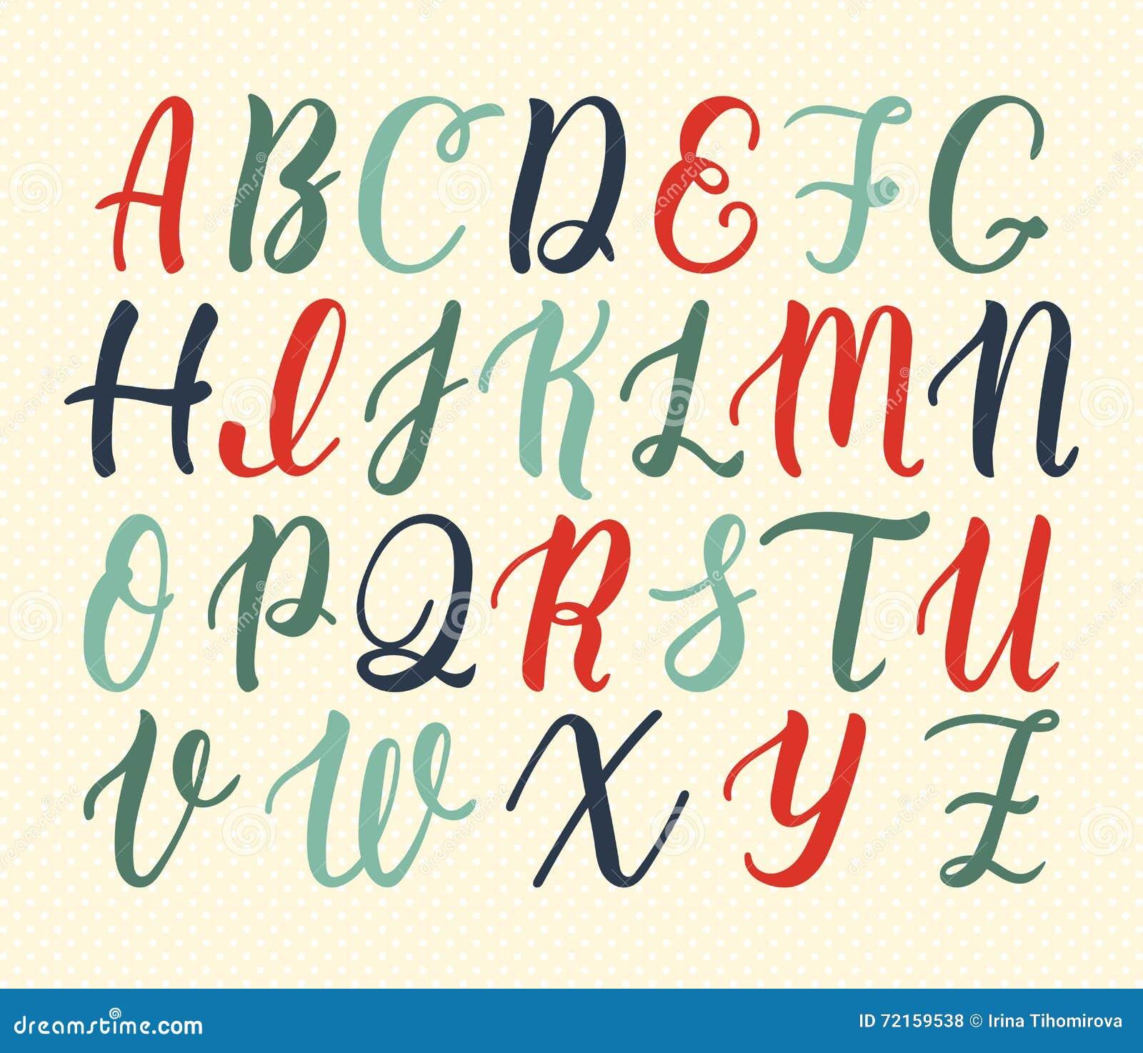 Top Manuscrit Latin Tiré Par La Main De Brosse De Calligraphie Des  HP18