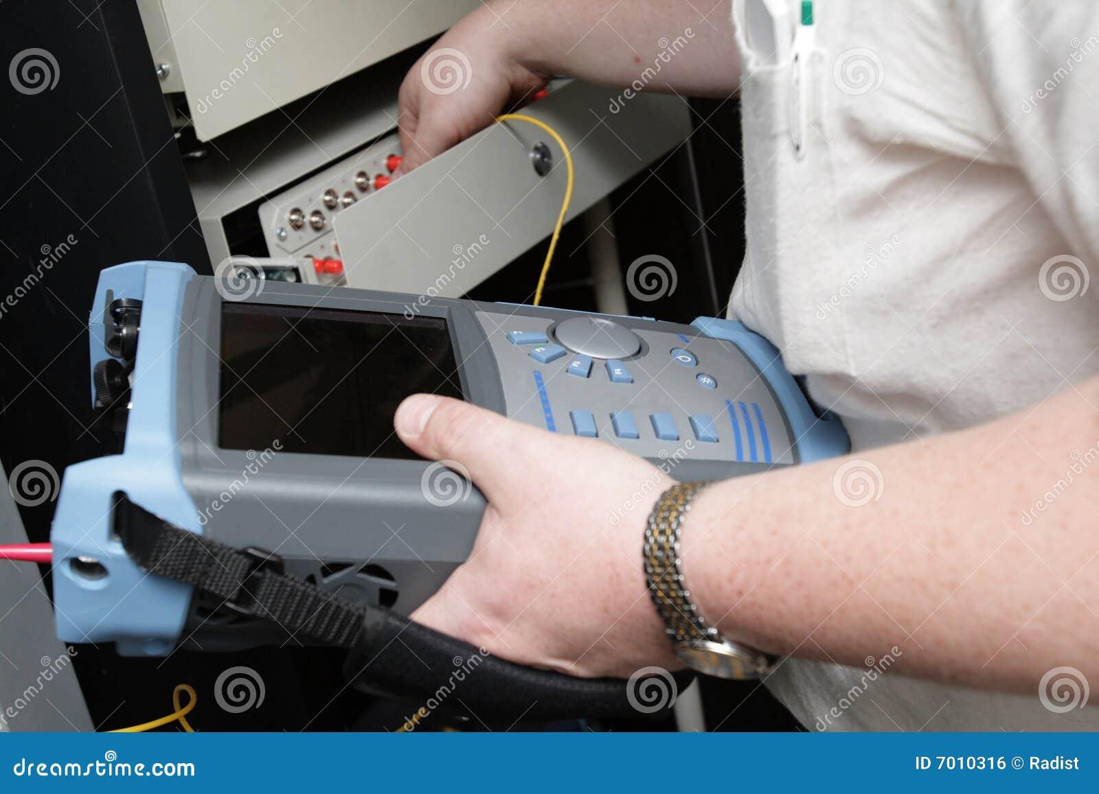 Manutenção da ligação fiber-optic