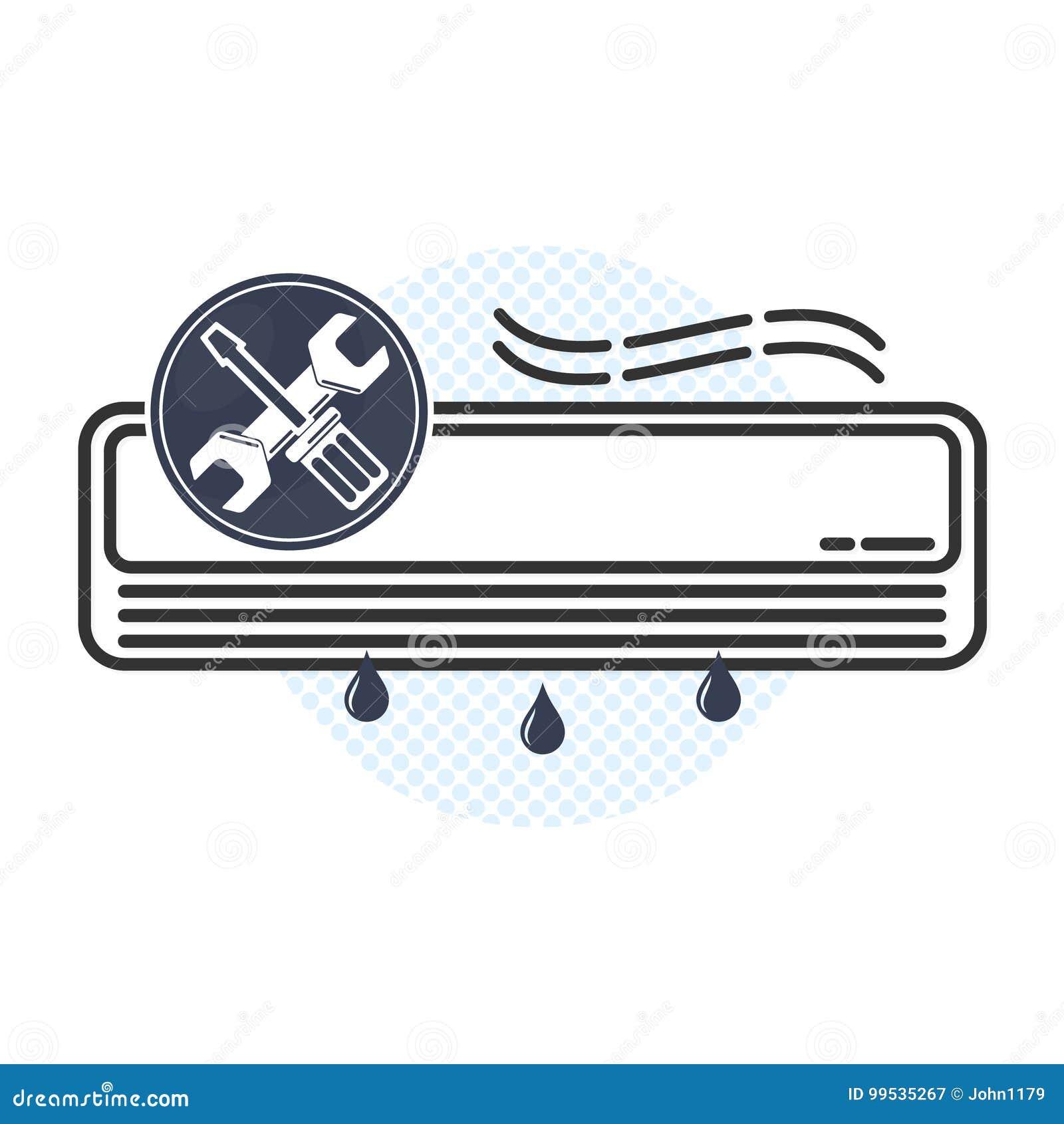 Manutenção do condicionamento de ar e vetor do reparo