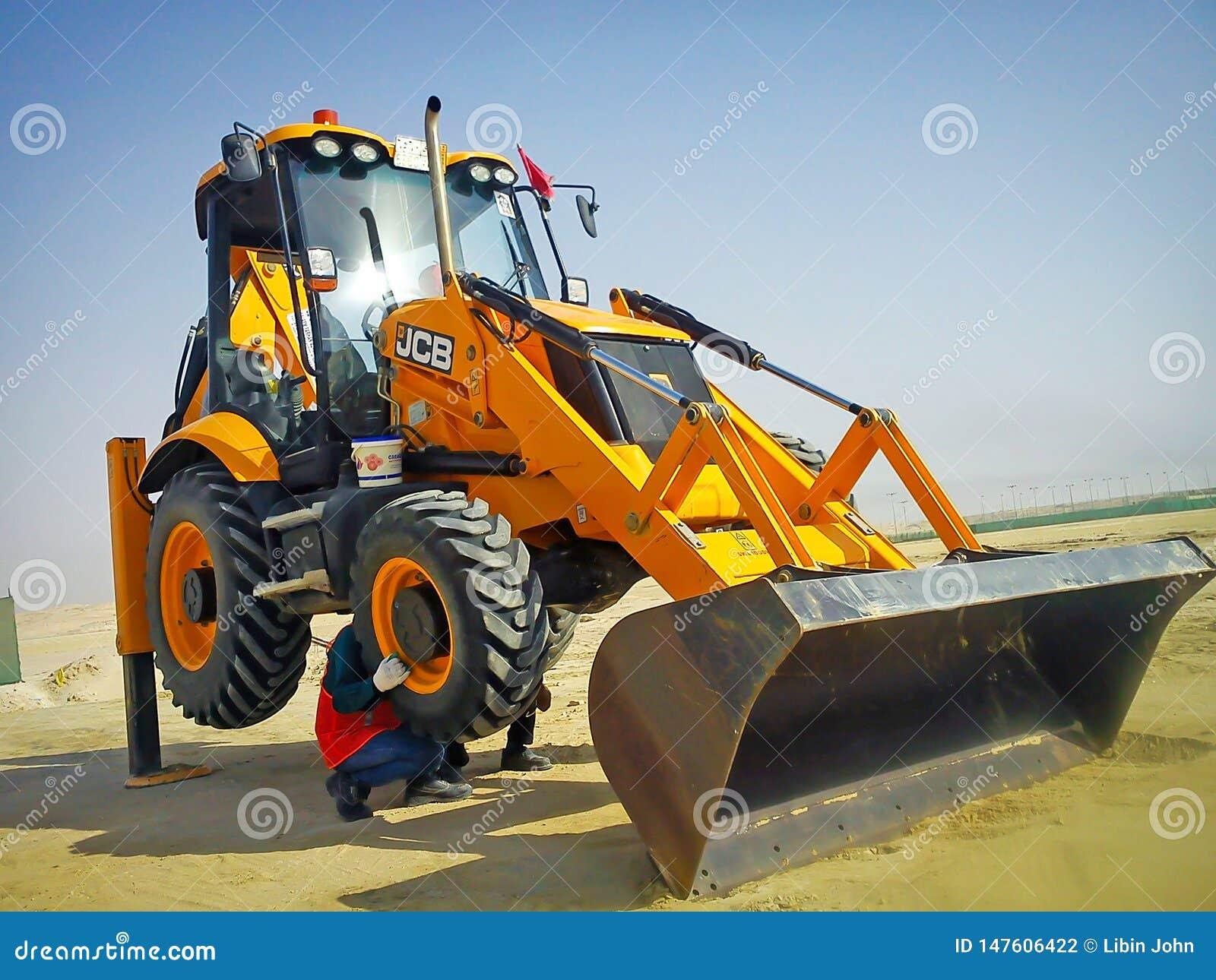Manutenzione di un escavatore