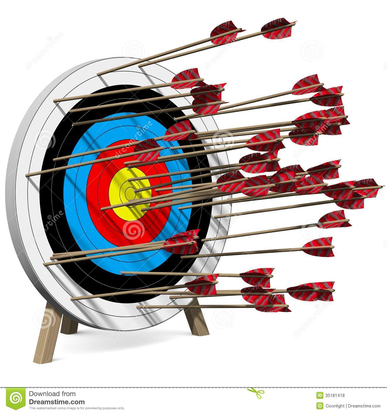 Many Arrows Hit The Target Royalty Free Stock Photos - Image: 35181418