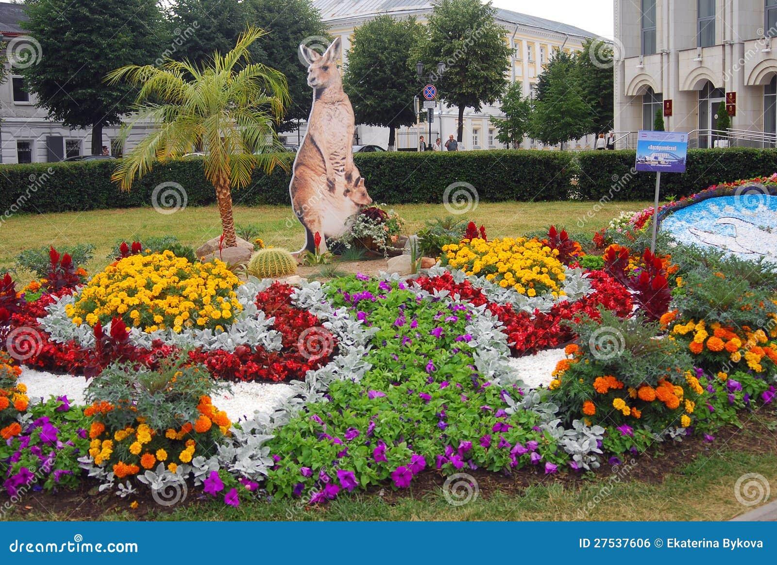 Many Beautiful Flowers And Kangaroo Model Editorial Photo Image Of