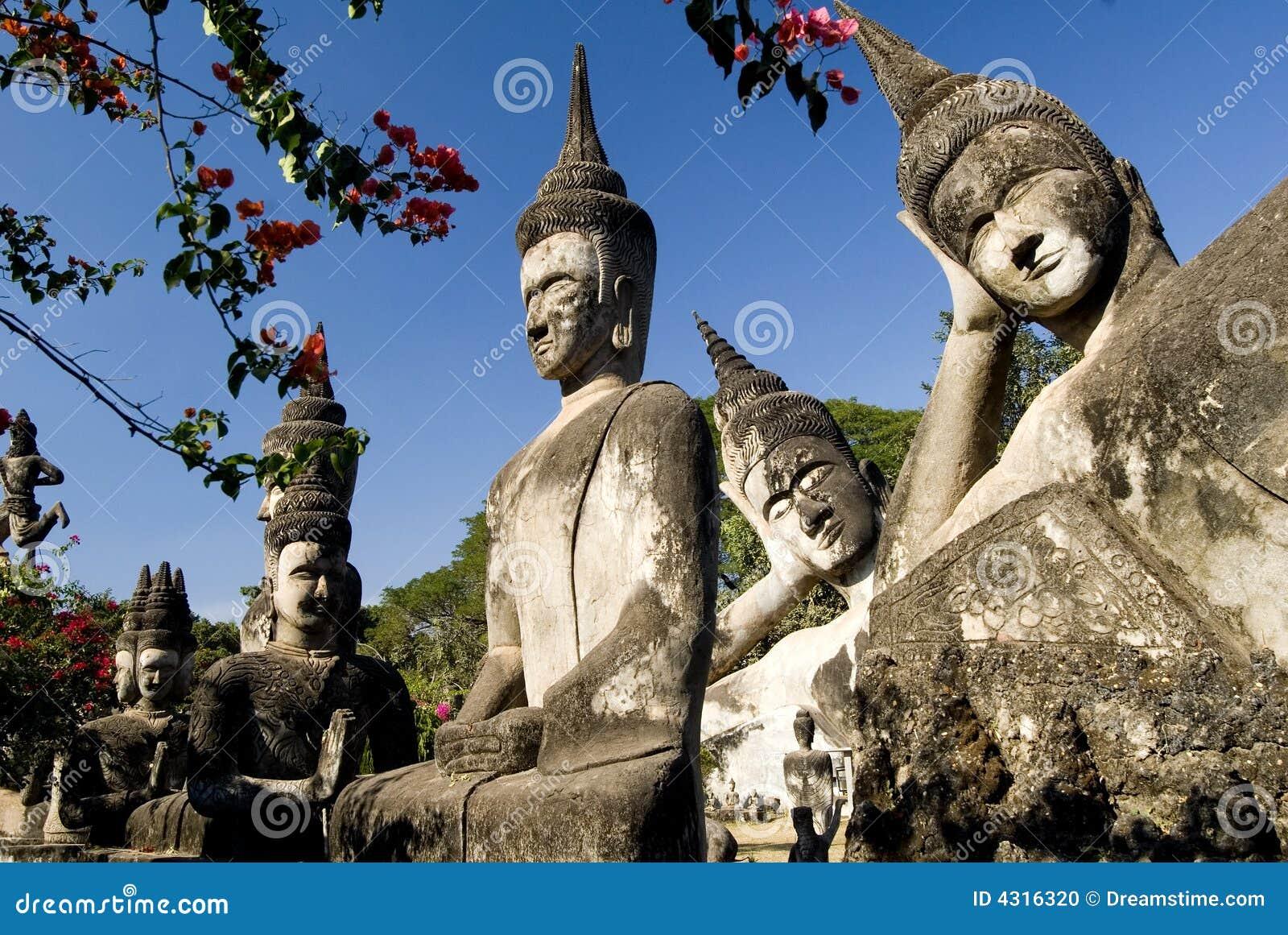 Many Buddhas - Vientiane. Laos