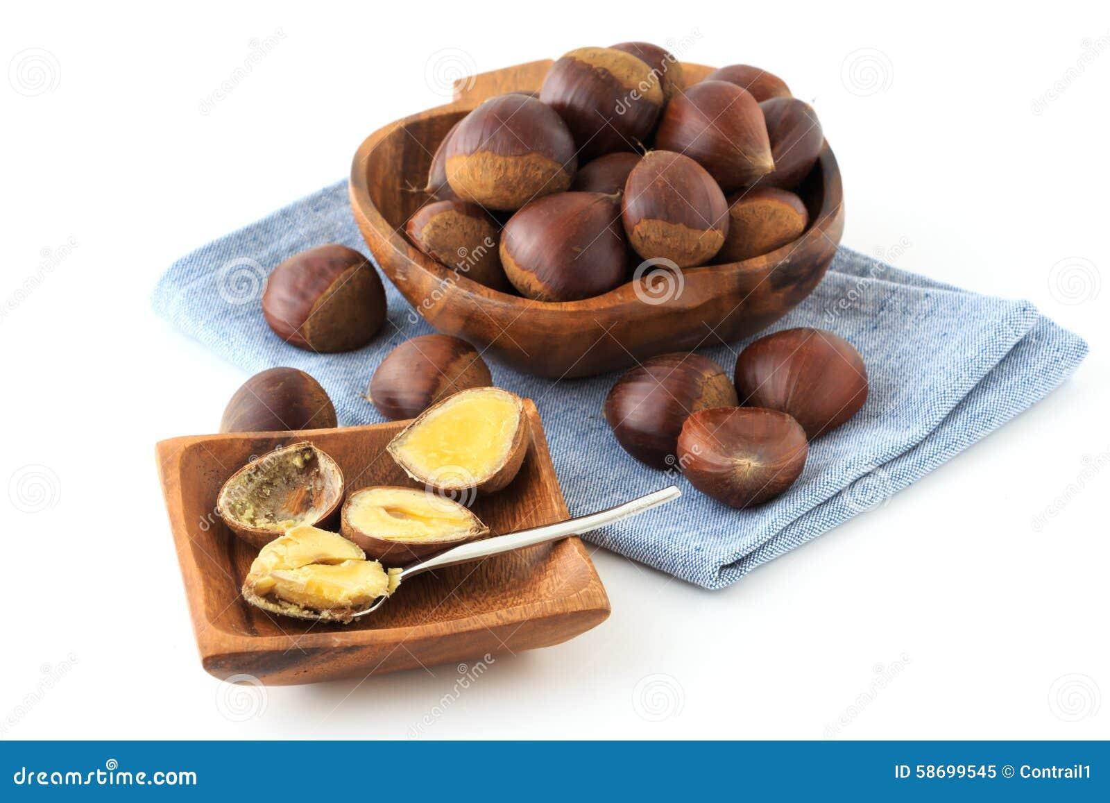 Many chestnut