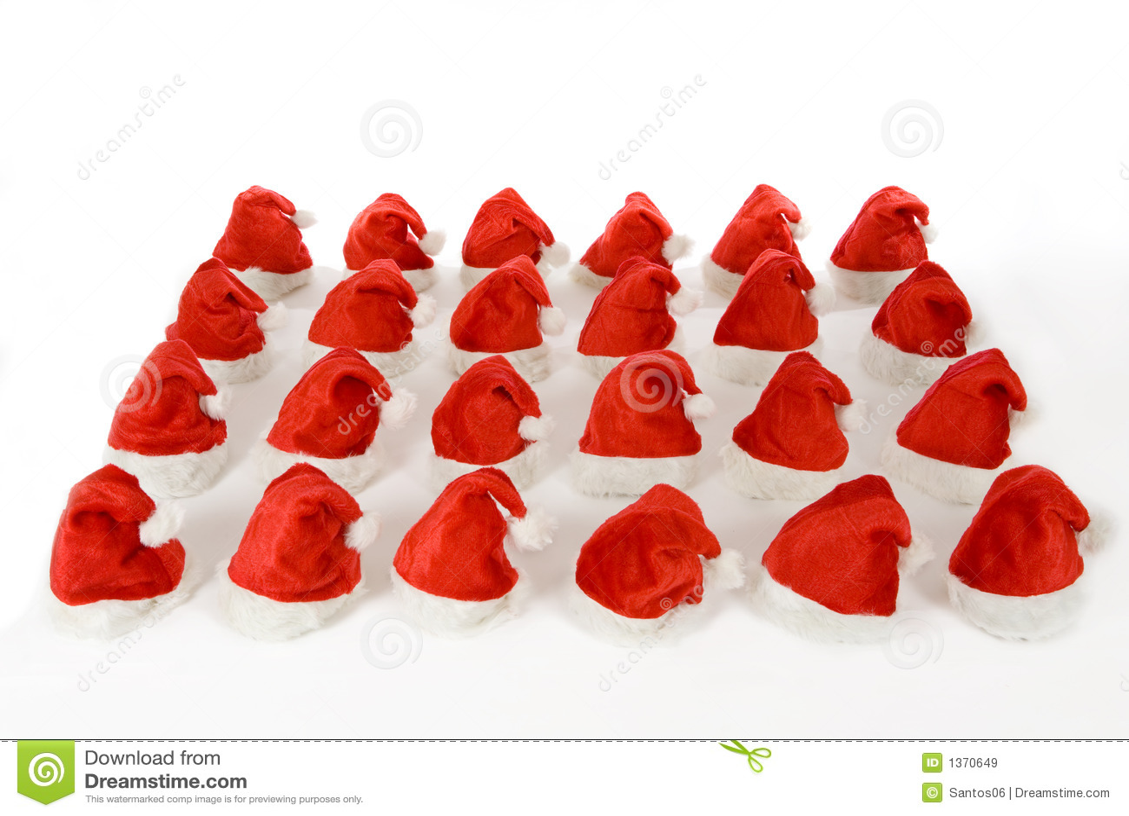 Many christmas hats