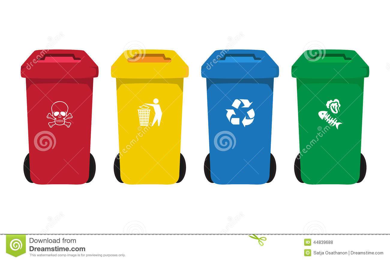 many color wheelie bins set with waste icon stock vector recycle vector art abs recycle vector art abs