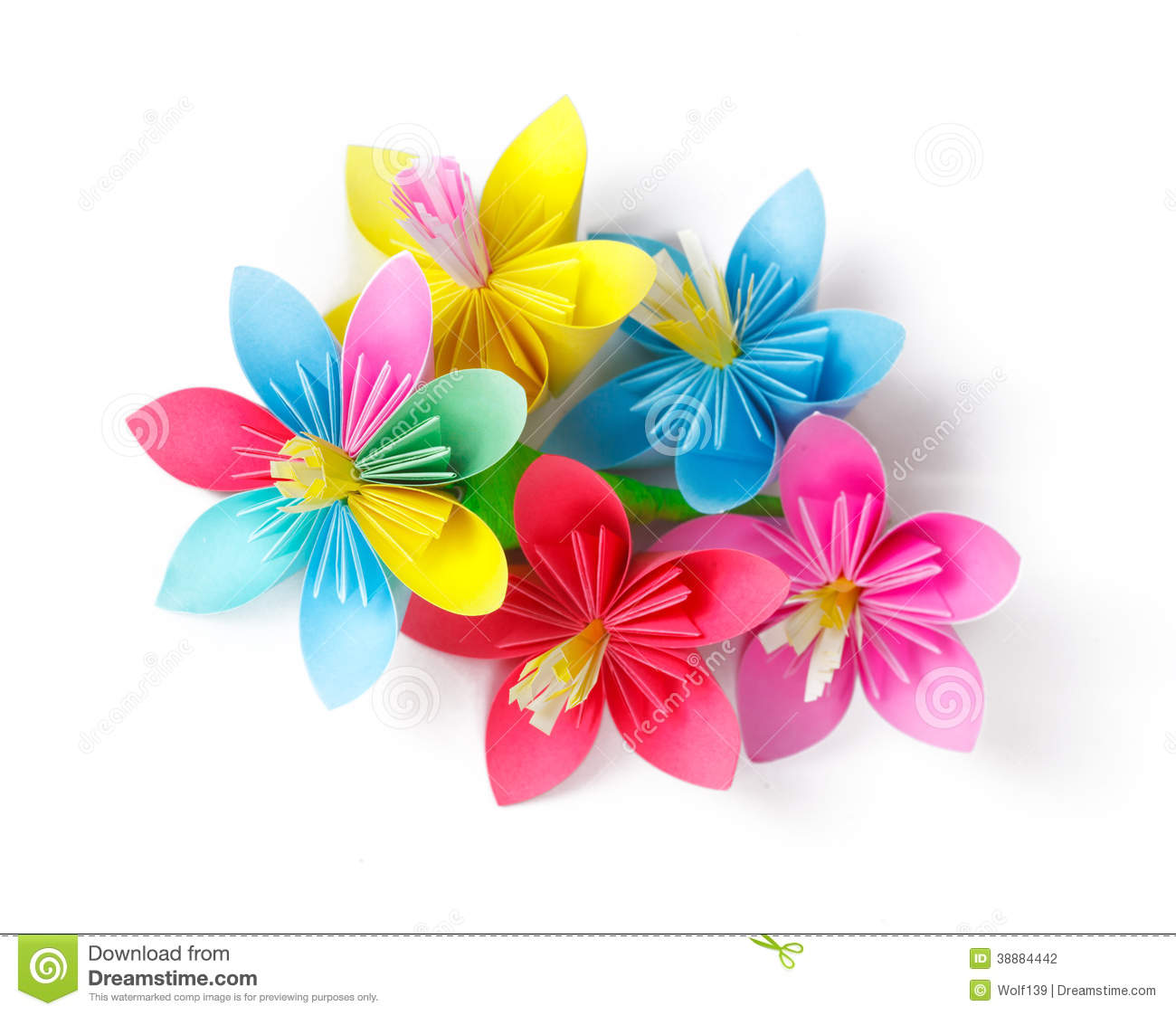 Many colored paper flowers stock photo image of march 38884442 download many colored paper flowers stock photo image of march 38884442 mightylinksfo