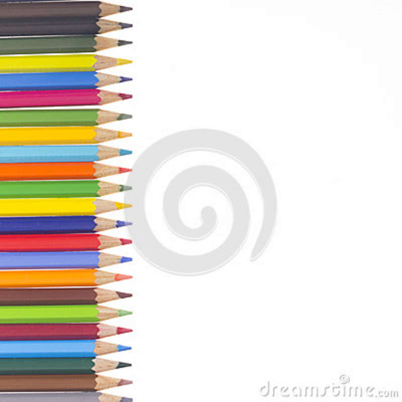 Many Colorful Pencils In A Vertical Row Stock Illustration ...