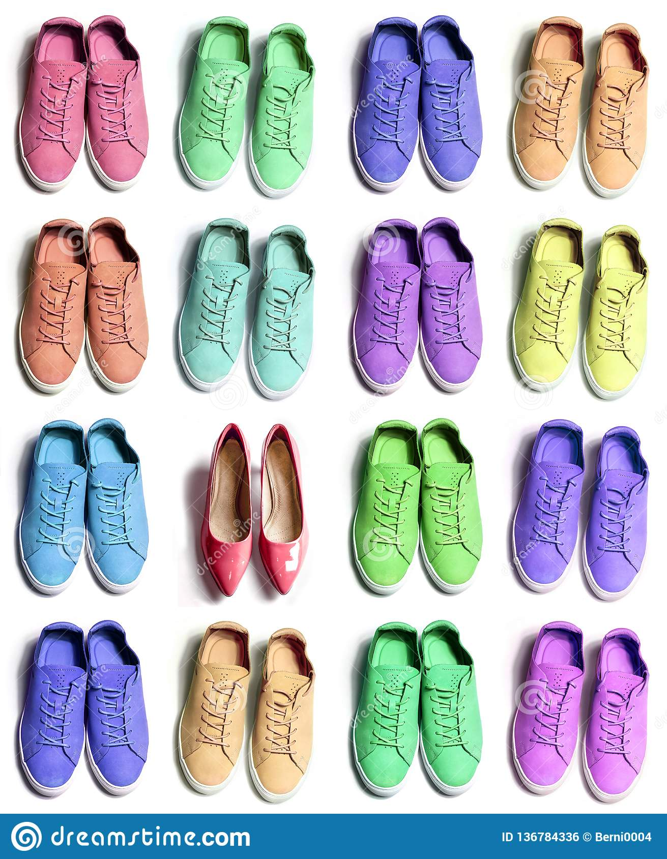 Many Colorful Sporty Sneaker Shoes With