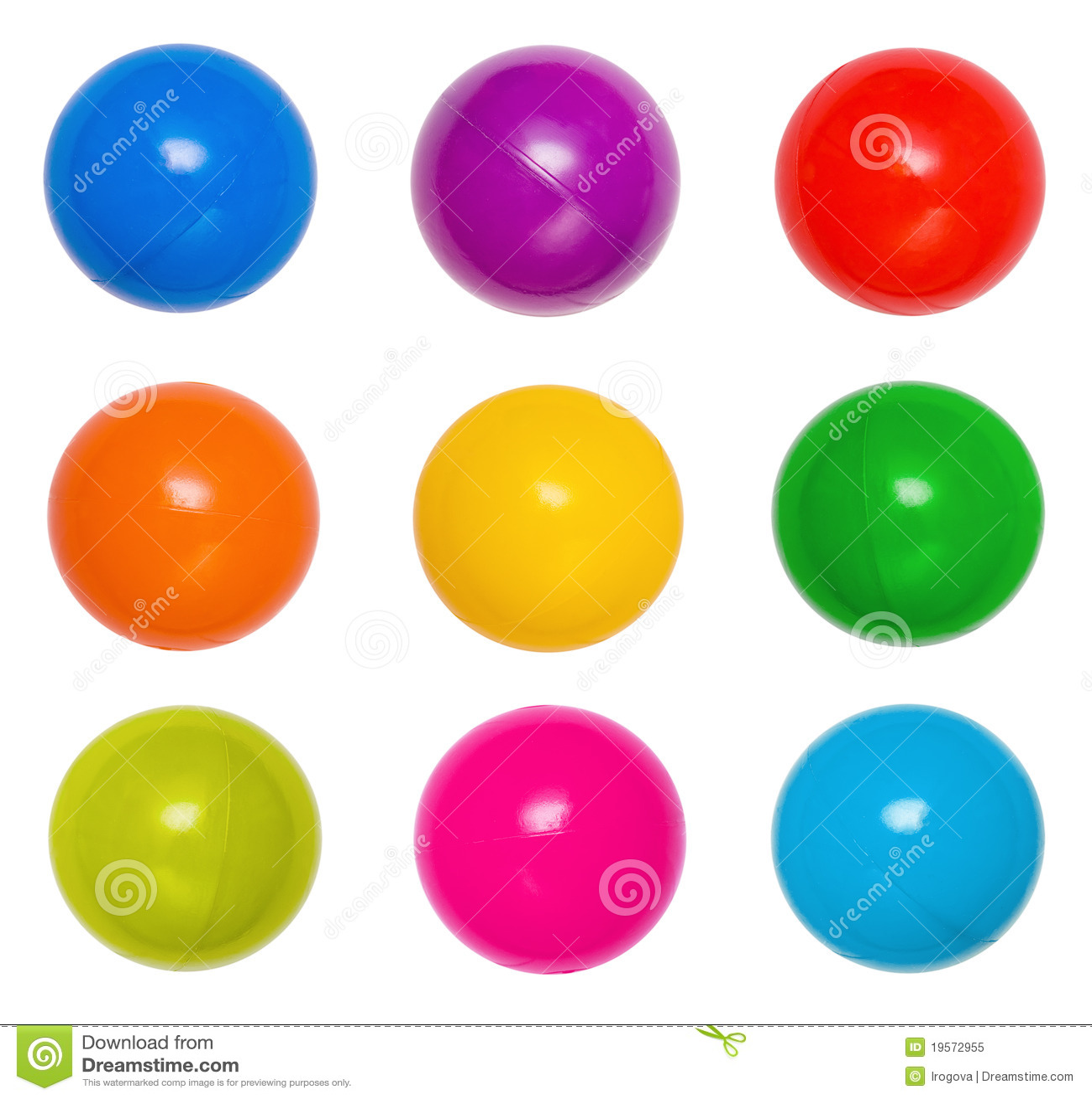 Many colour plastic balls