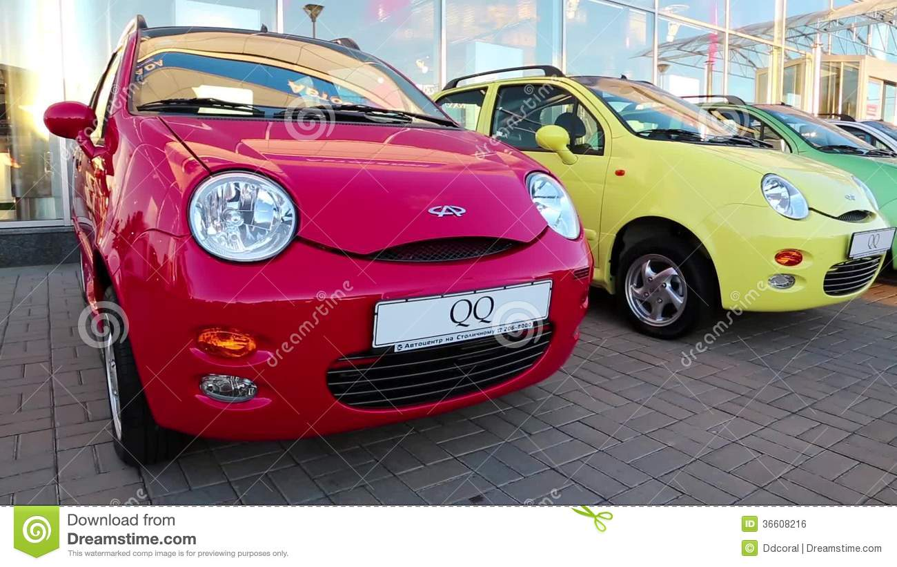 Many Coloured Cars Chery Qq At Motor Show Stock Video Footage Video Of Expensive Exhibition 36608216