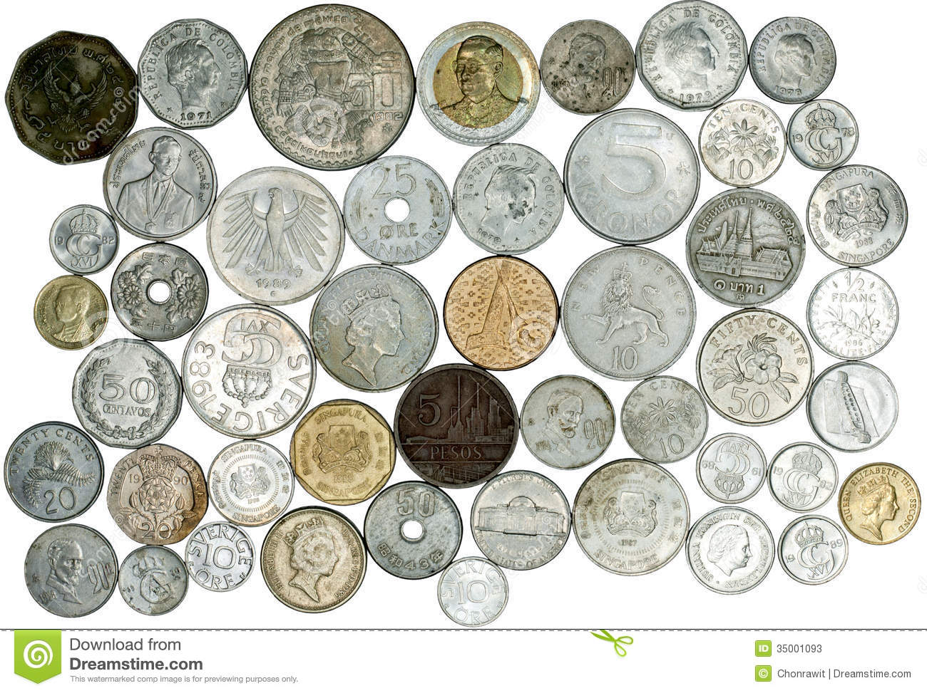 many coins from all - photo #23