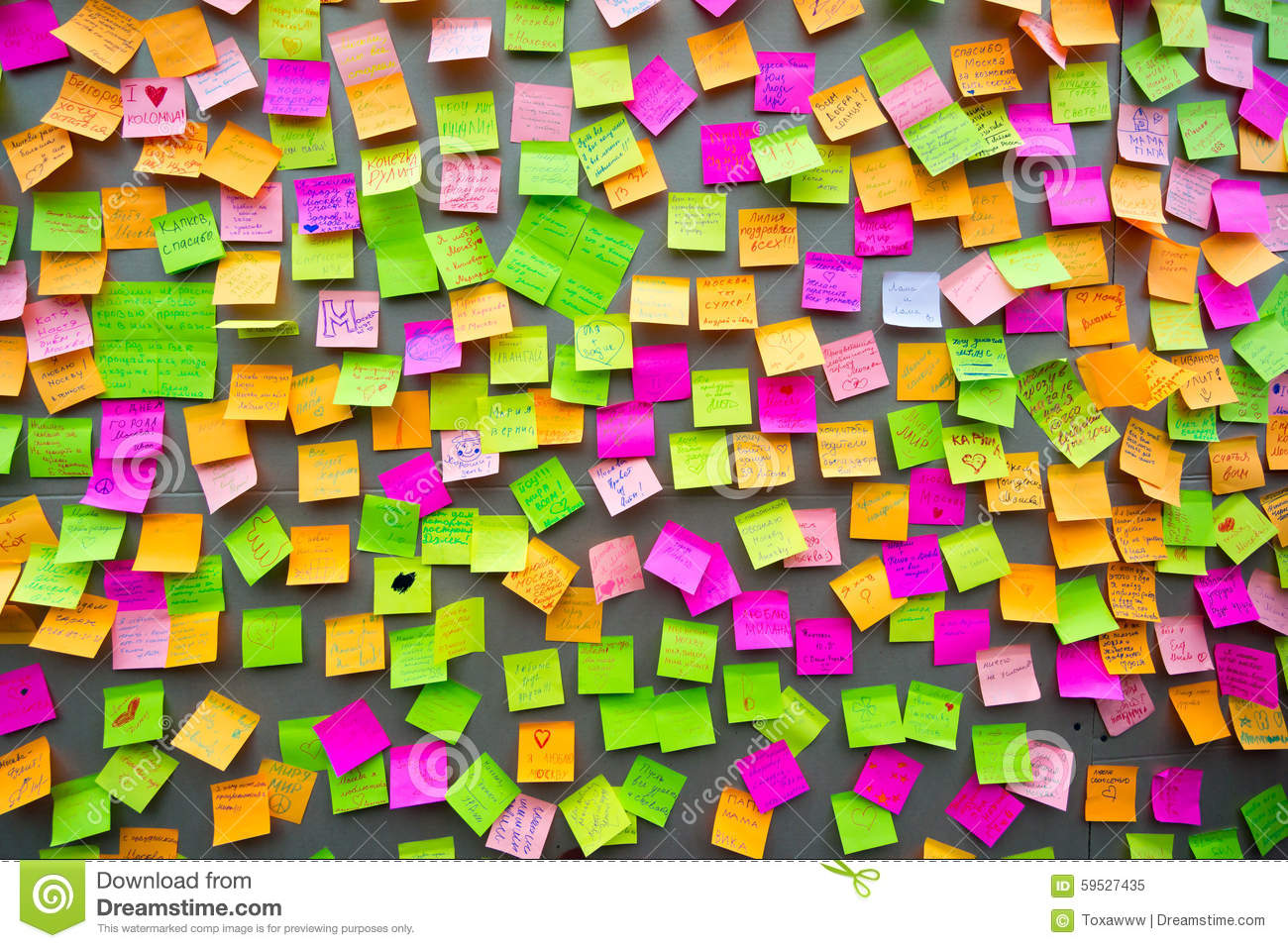 how to make different colored sticky notes on background