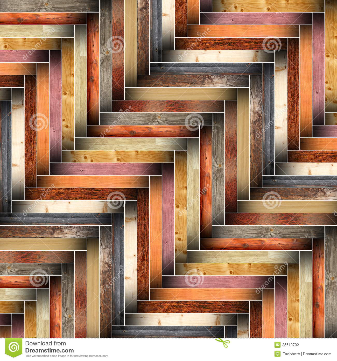 Many different wood tiles forming floor design stock photography