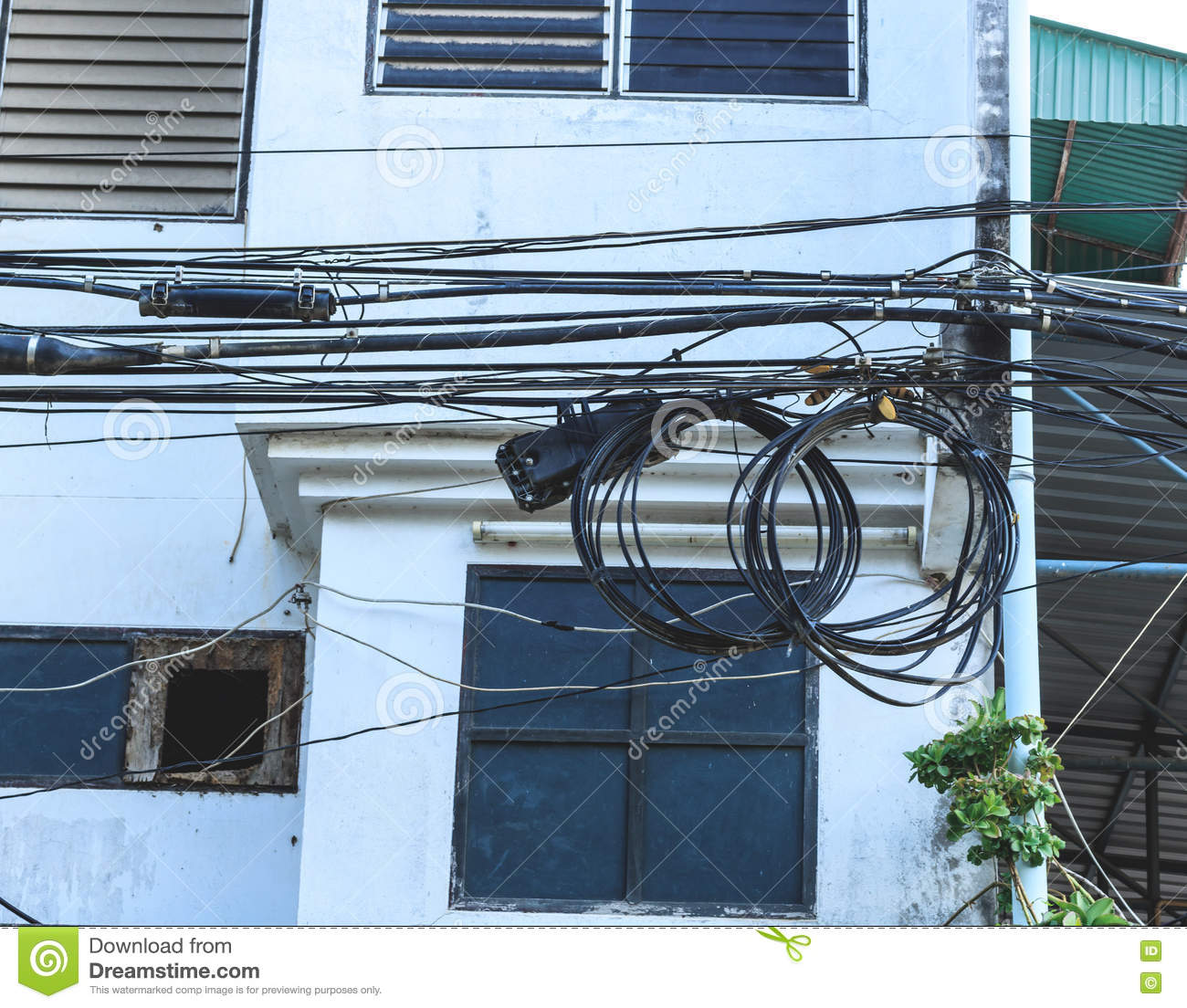 Miraculous Many Electrical Wires On Poles Stock Photo Image Of Electrical Wiring Cloud Hisonuggs Outletorg