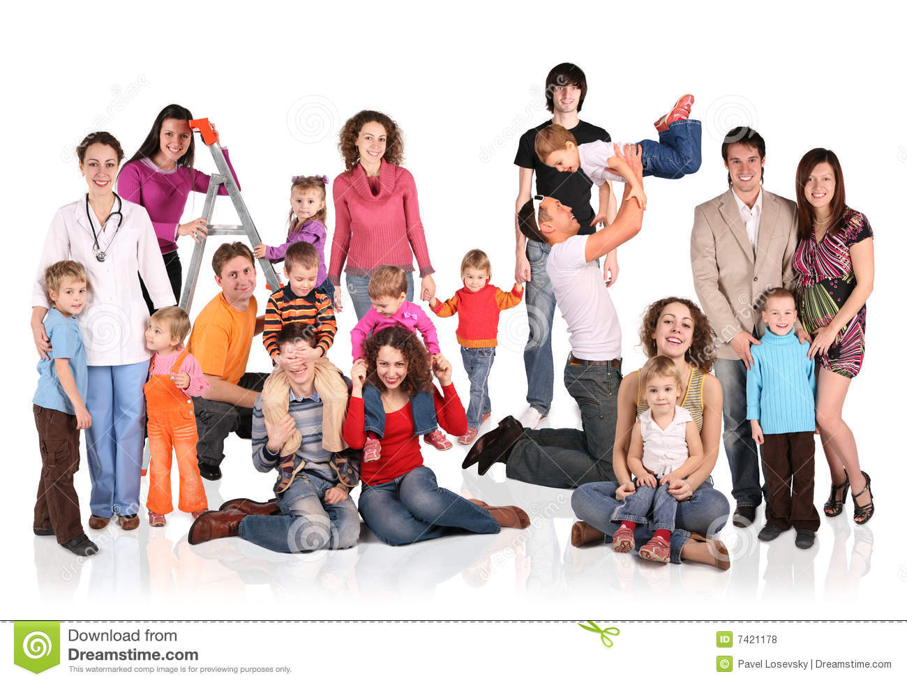 Many Families With Children Group Royalty Free Stock Photos - Image ...
