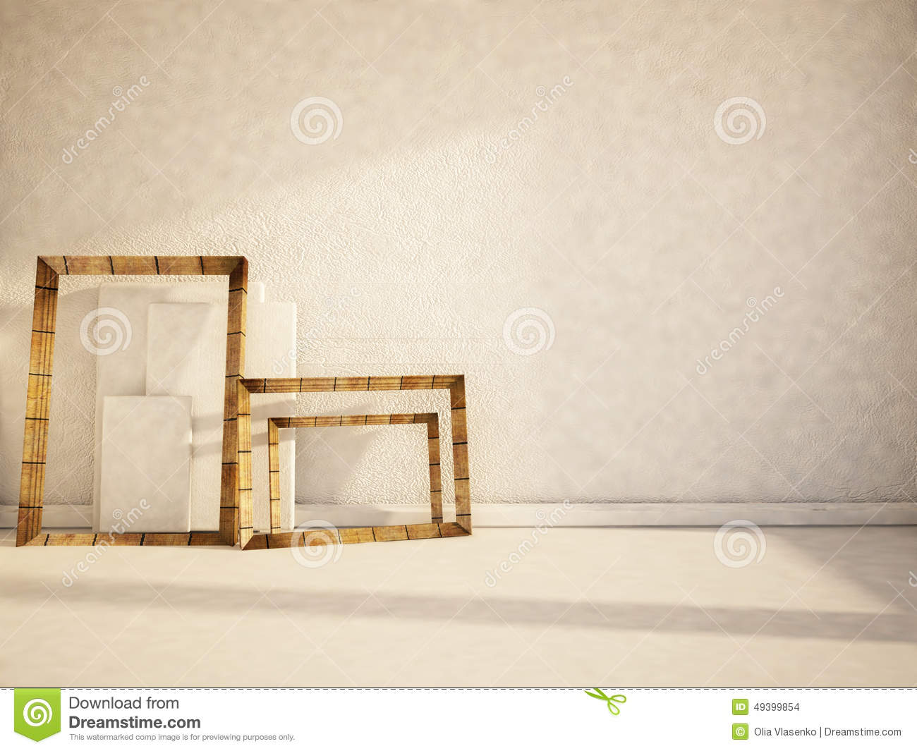 many frames and canvases on the floor stock illustration  image  - many frames and canvases on the floor stock illustration