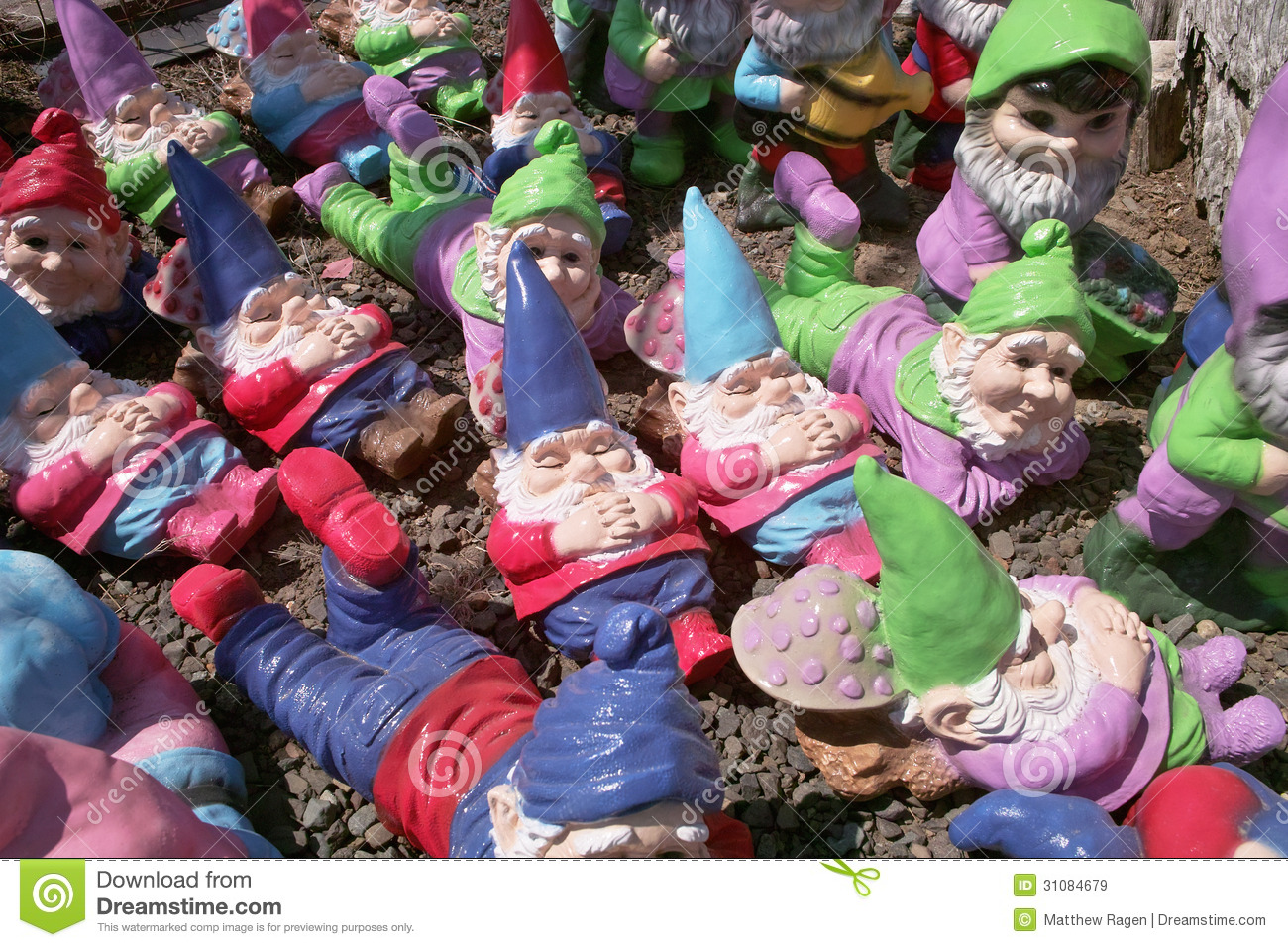 Many Garden Gnomes Royalty Free Stock Images Image 31084679