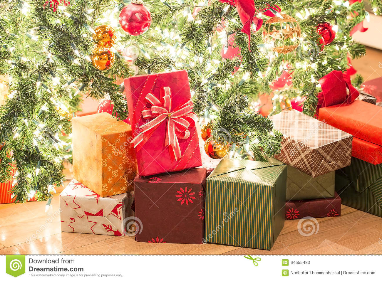 download many gifts and beautiful christmas tree on floor stock image image of room - How Many Gifts For Christmas