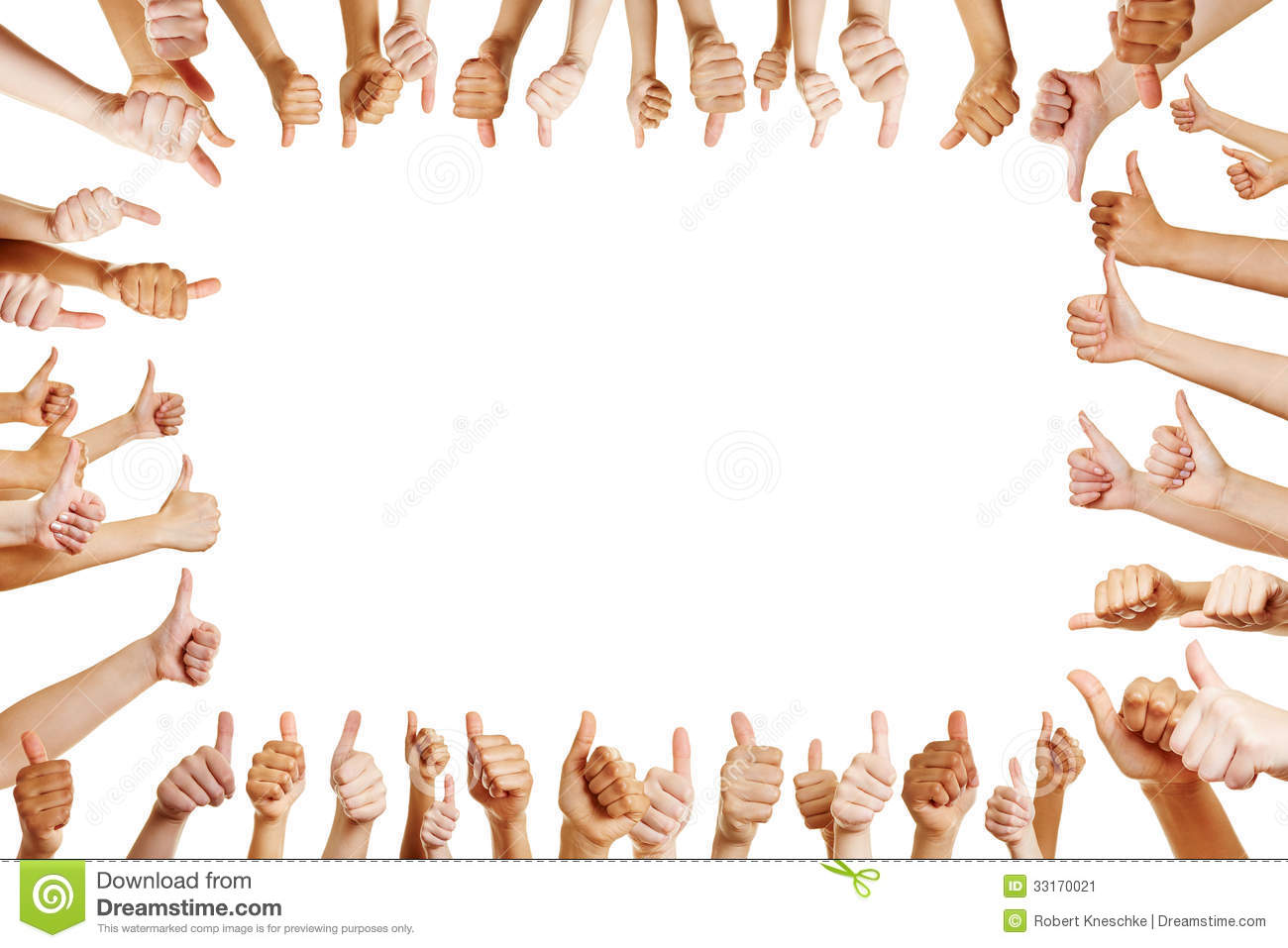 Many Hands Congratulate A Winner Stock Image  33170021