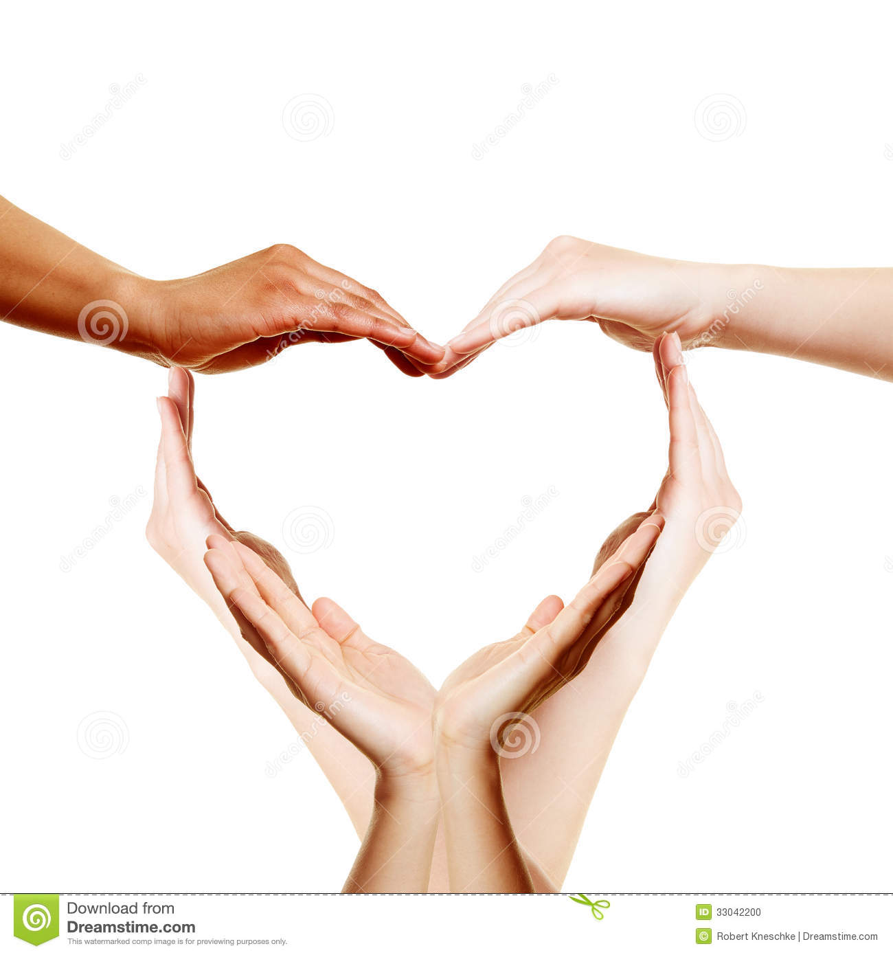 Many Hands Forming A Love Heart Stock Photo - Image: 33042200
