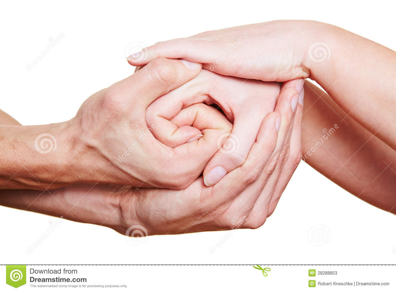 Many hands holding on to each other