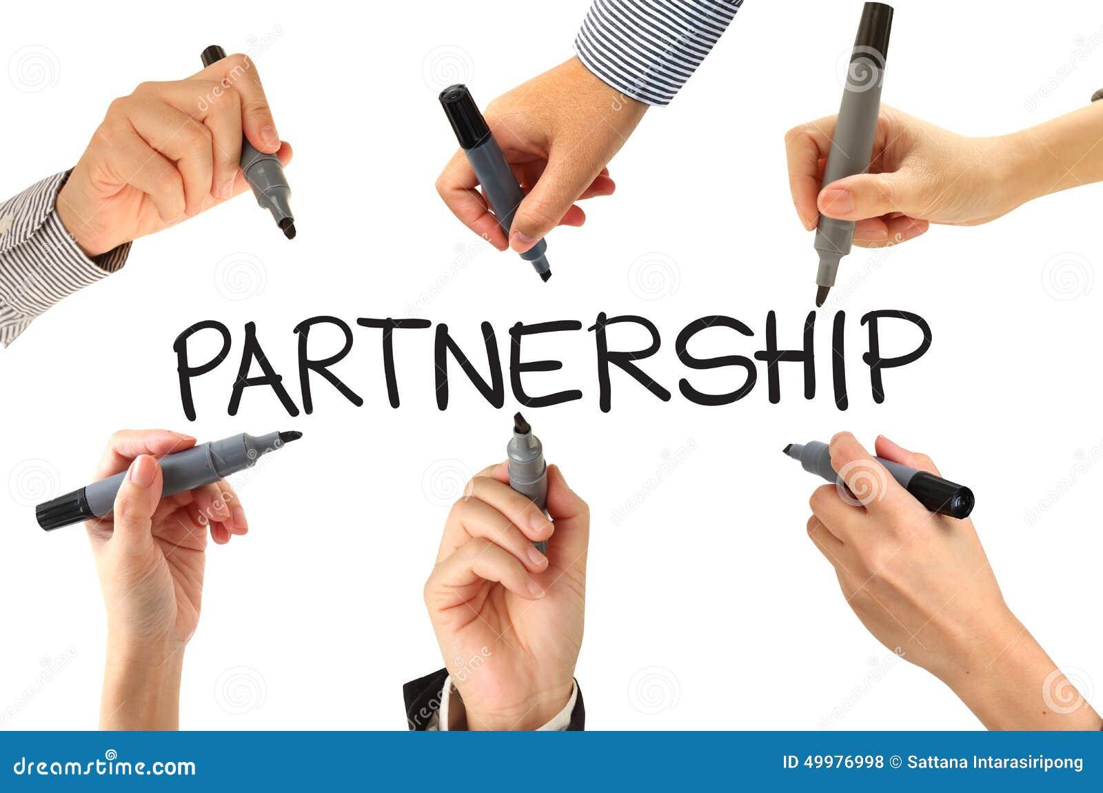 many hands writing partnership word stock photo - image of