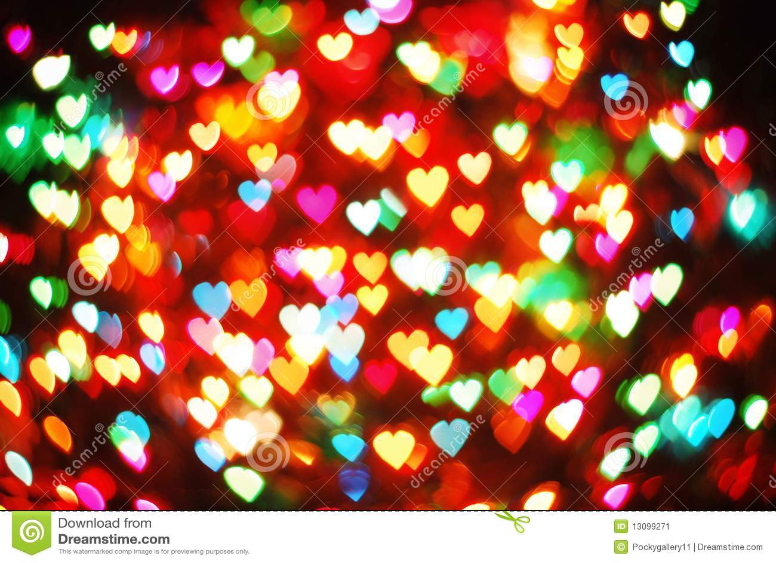 Many Heart Bokeh Stock Image Image 13099271