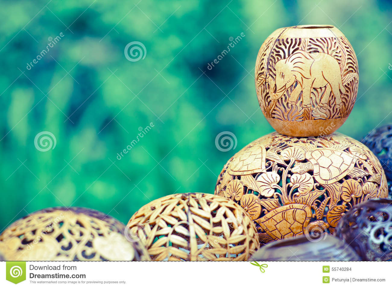 souvenir carved coconut from bali indonesia royalty free stock photo 92475255. Black Bedroom Furniture Sets. Home Design Ideas