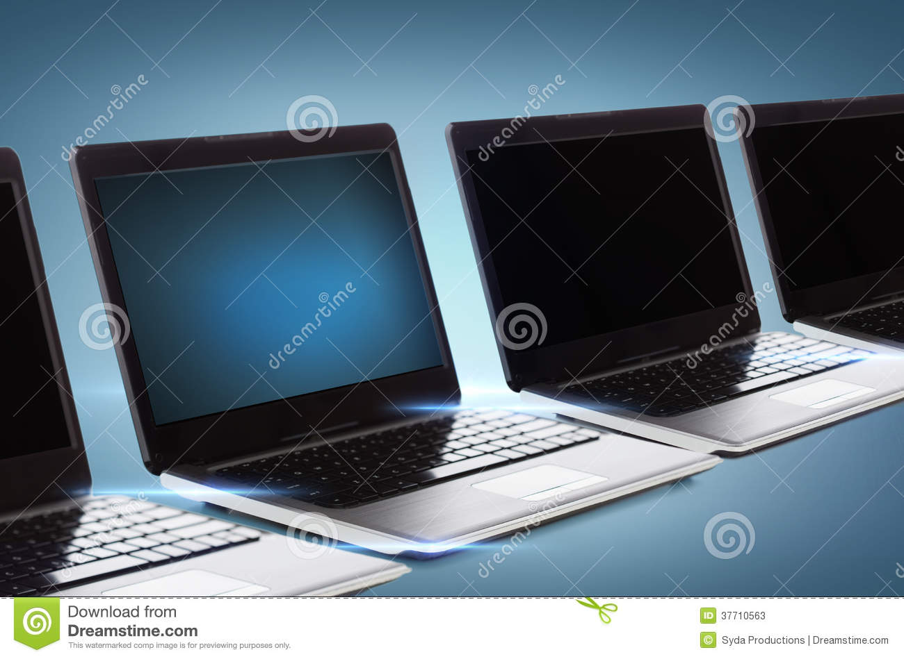 Download Many Laptop Computers With Blank Black Screens Stock Illustration - Illustration of computer, mobile: 37710563
