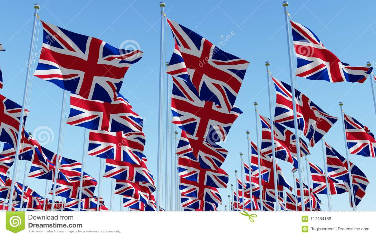 Many National Flags Of United ...