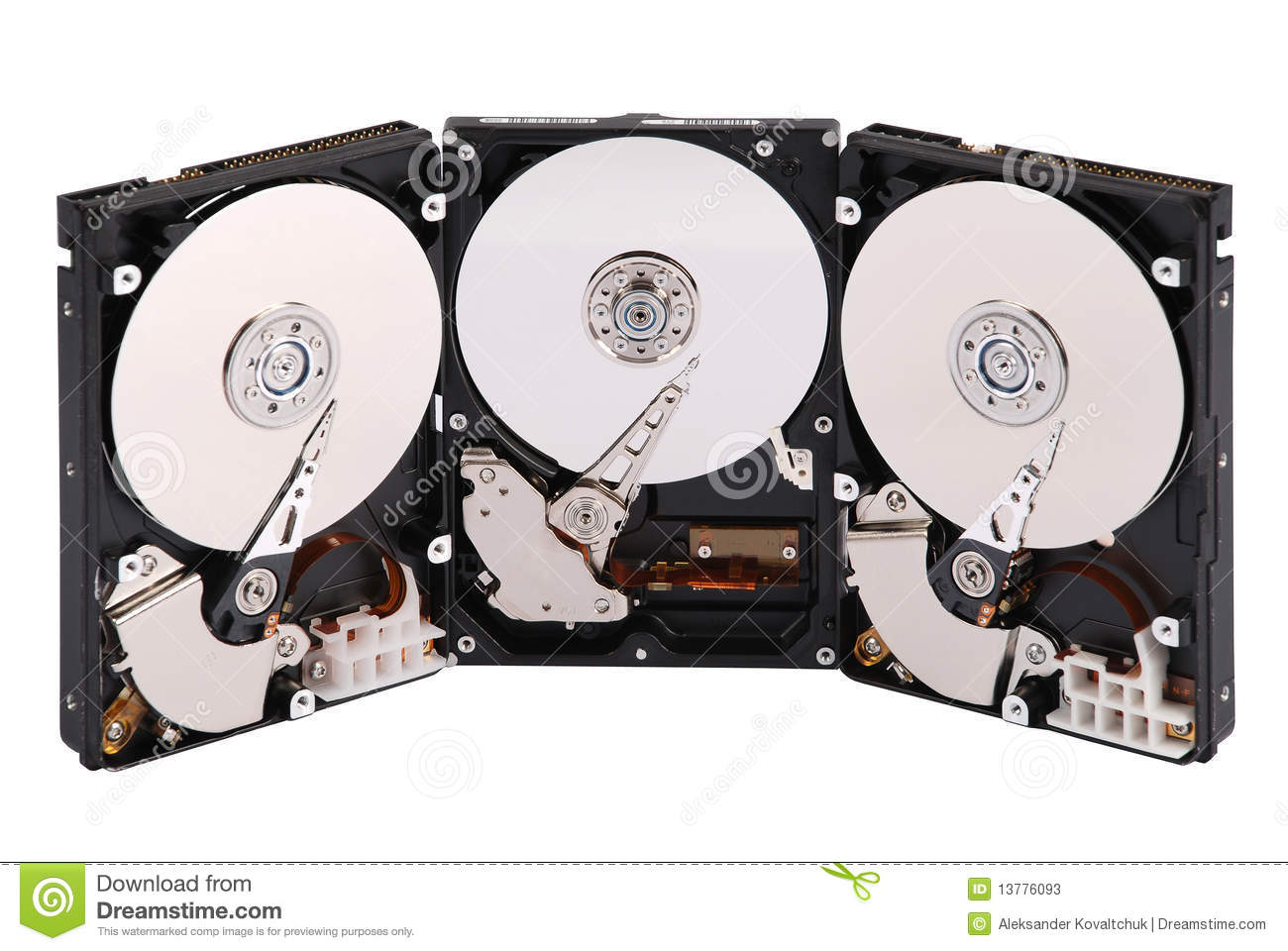 how to break open a hard drive