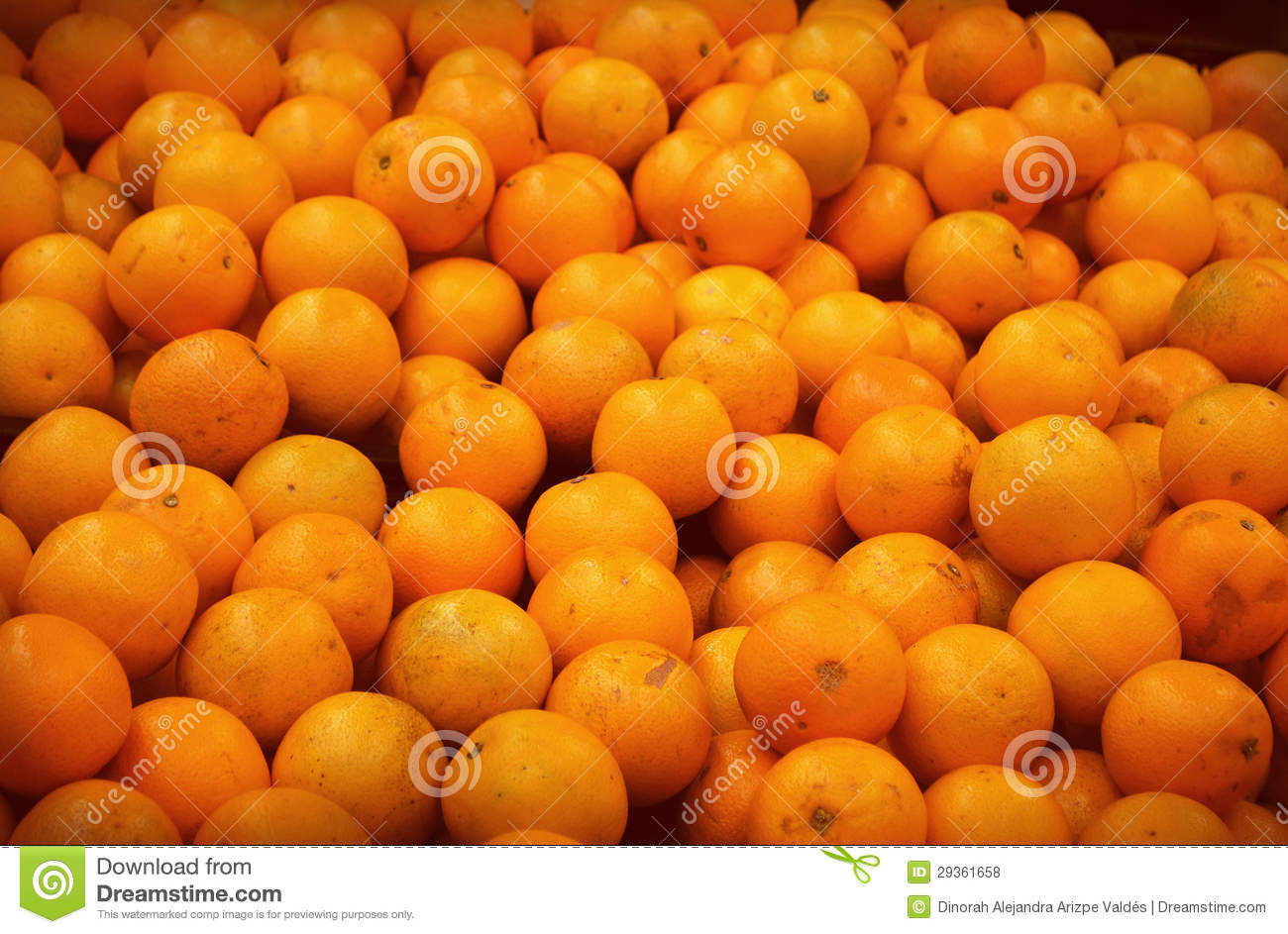 Many oranges