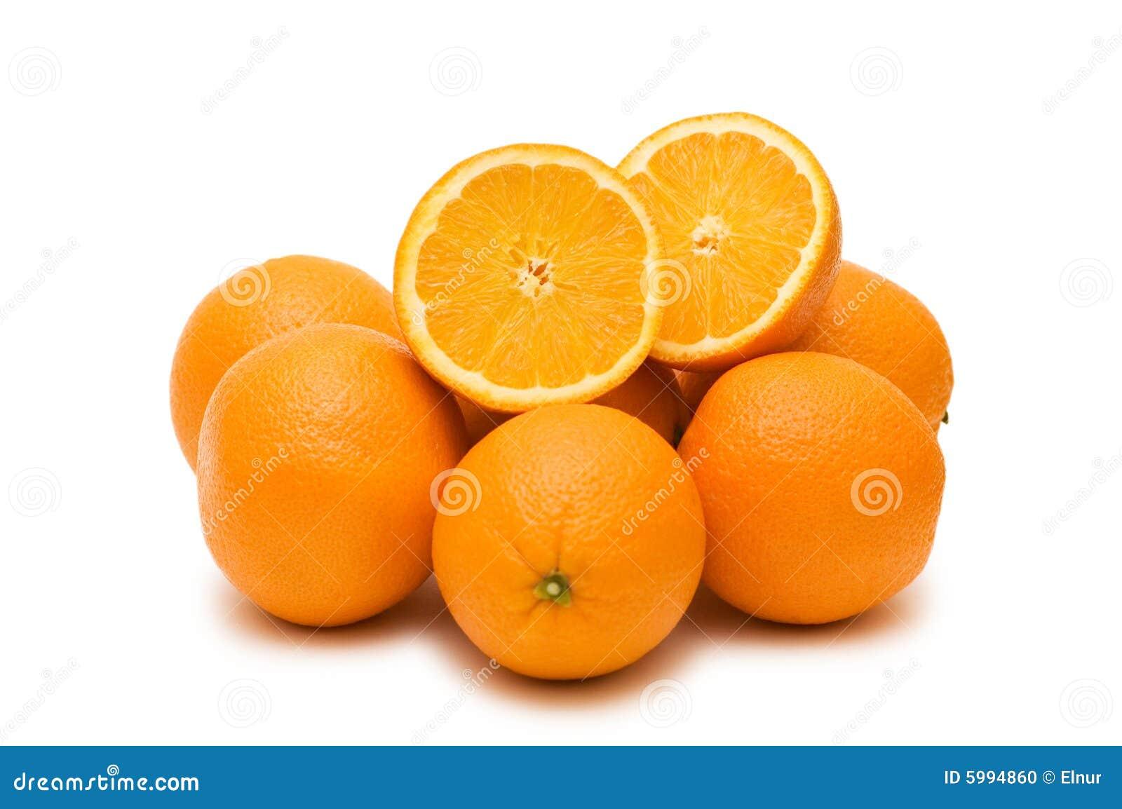 Many oranges isolated
