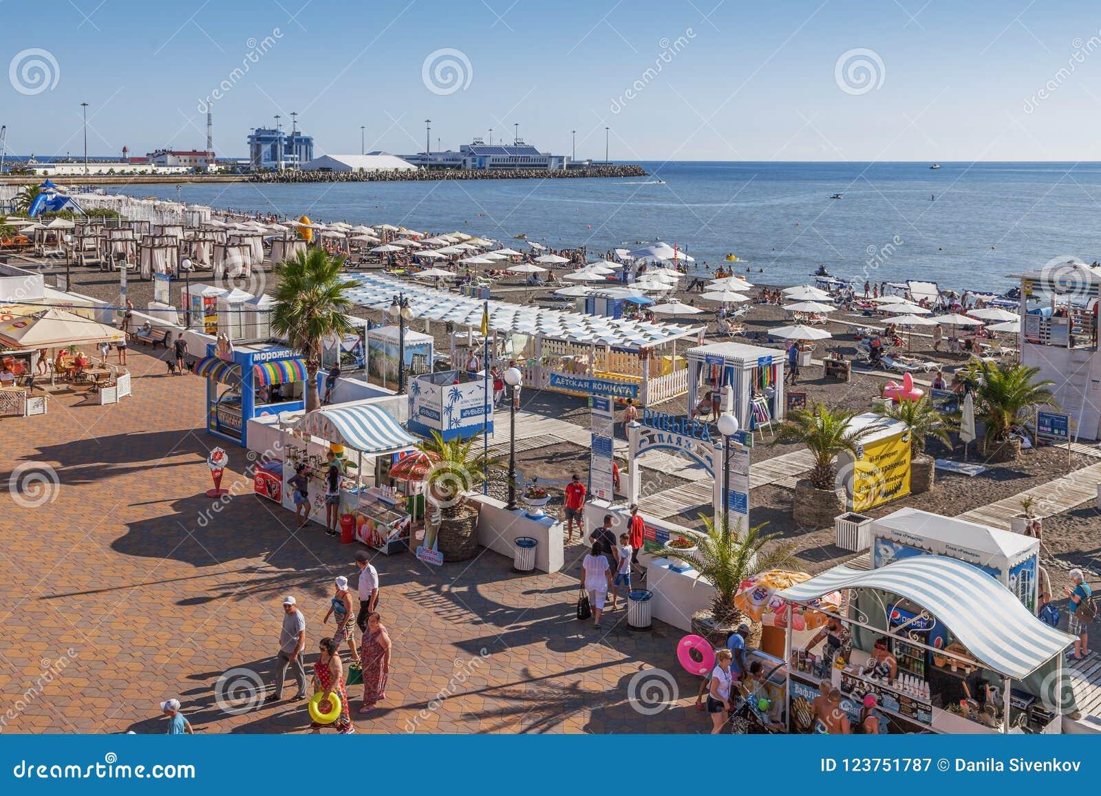 Beach Riviera in Sochi. Description, reviews of tourists 64