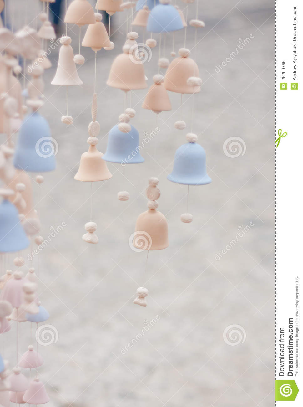 Many Pieces Of Ceramic Burnt Bells Royalty Free Stock