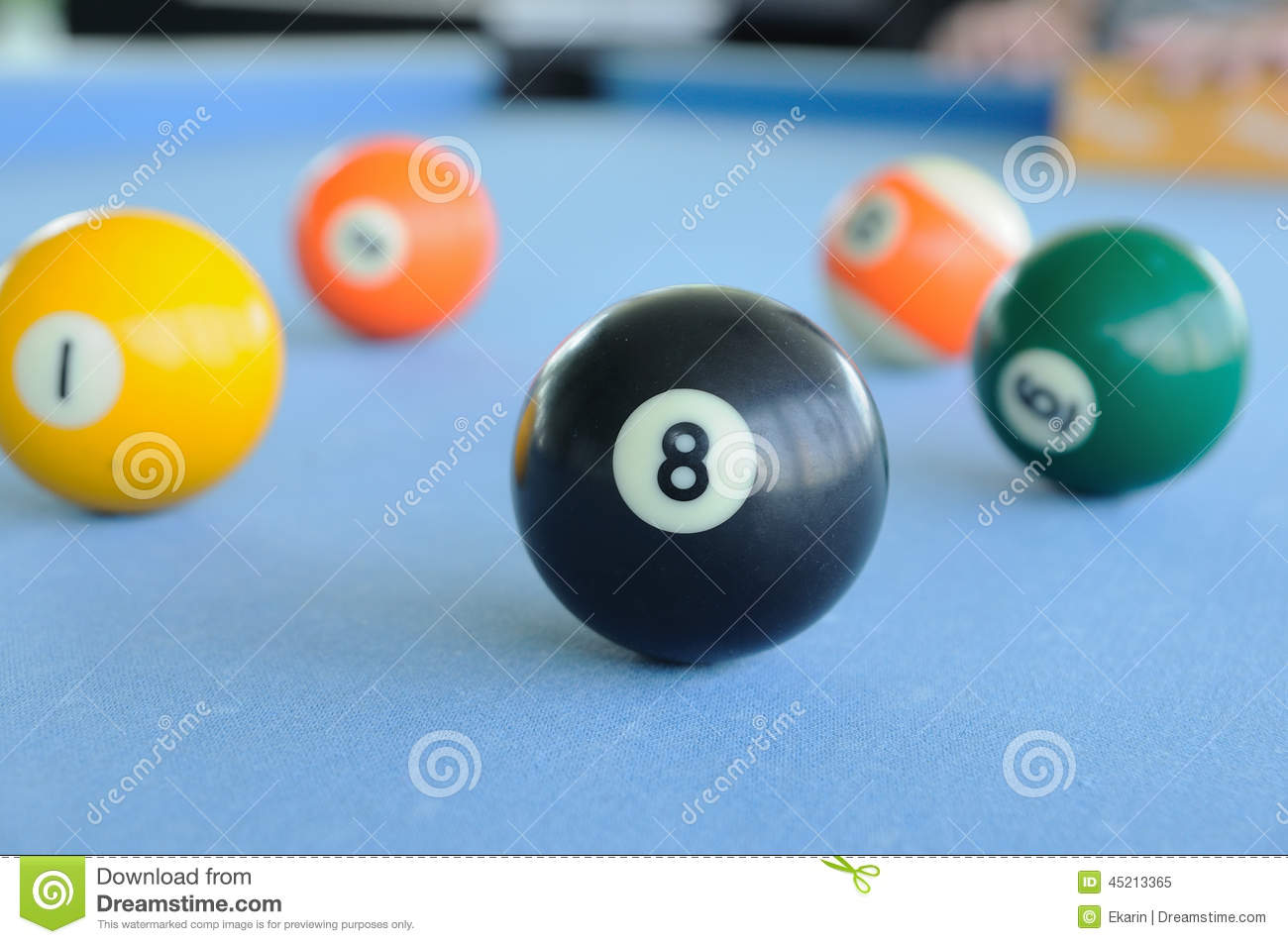 Many Pool balls Woolen Fabric Stock Image