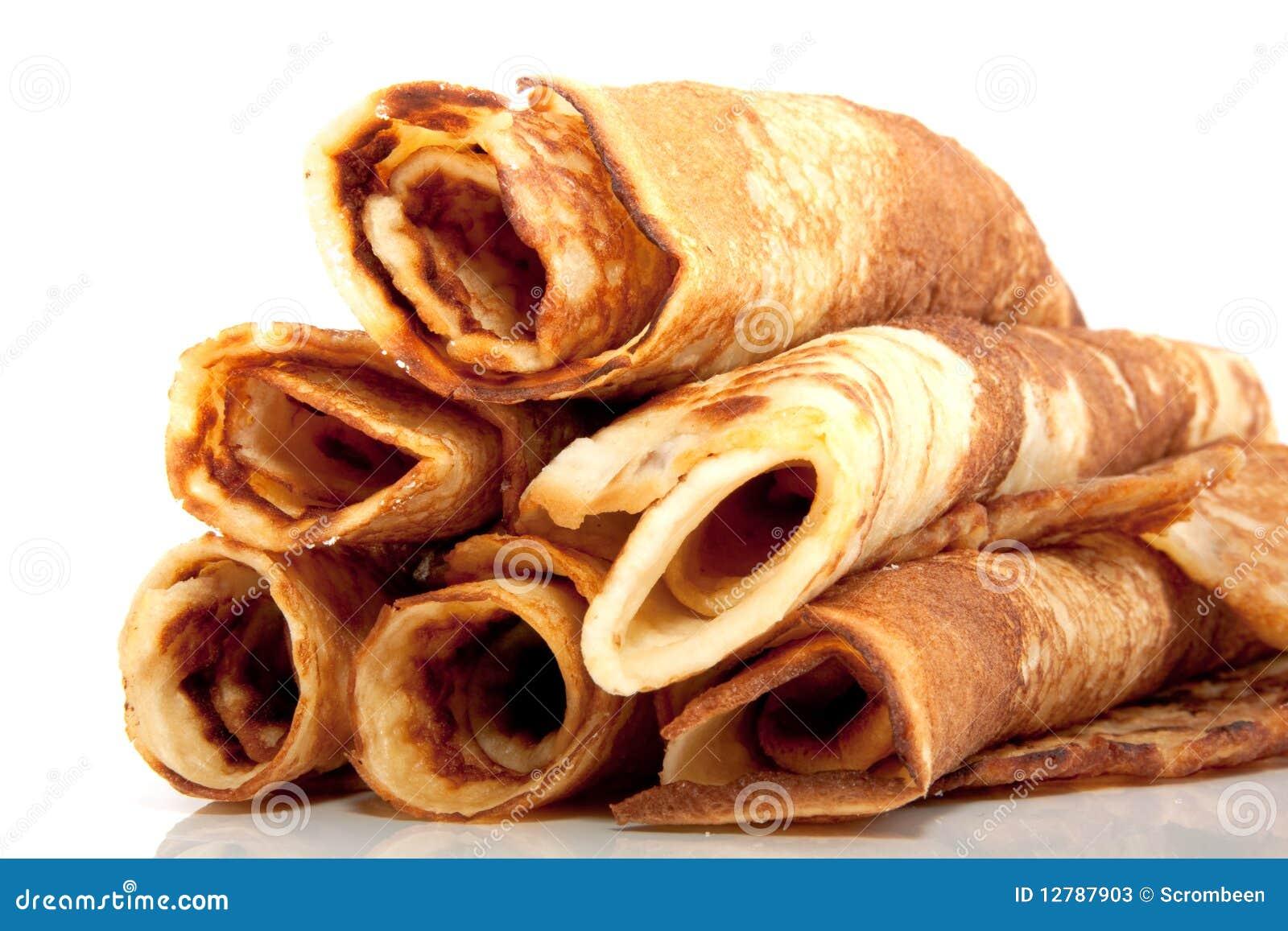 Many Rolled Pancakes Stock Photos Image 12787903
