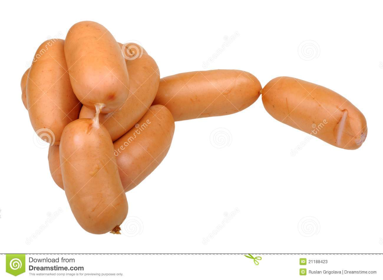 Many sausages