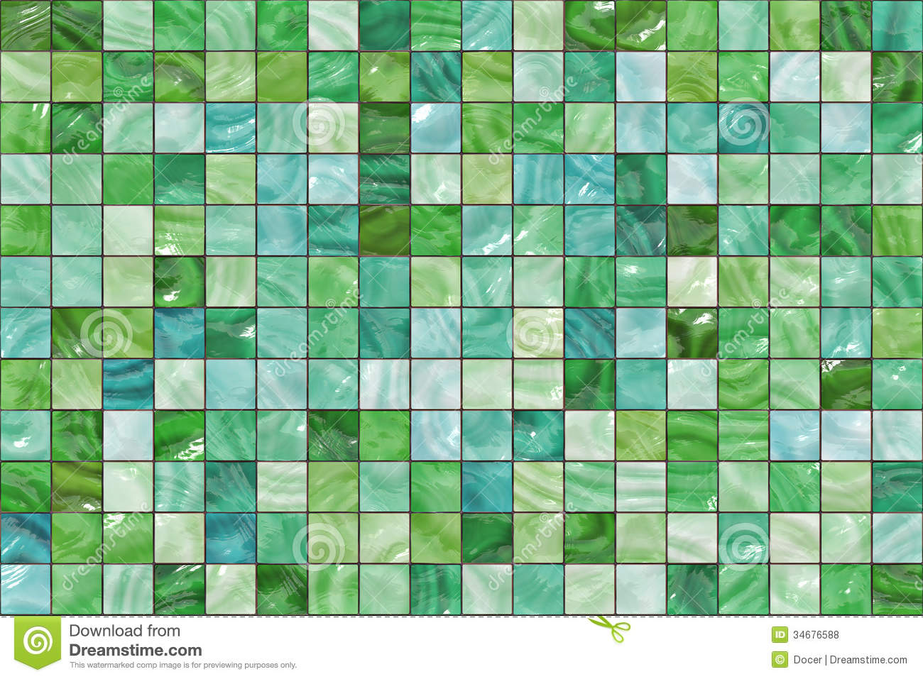 Many Small Colour Square Mosaic Pattern Texture Abstract