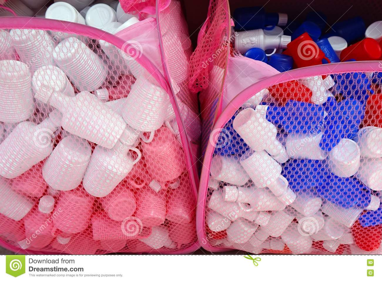 Many Small Plastic Holy Water Bottles Stock Photo - Image of