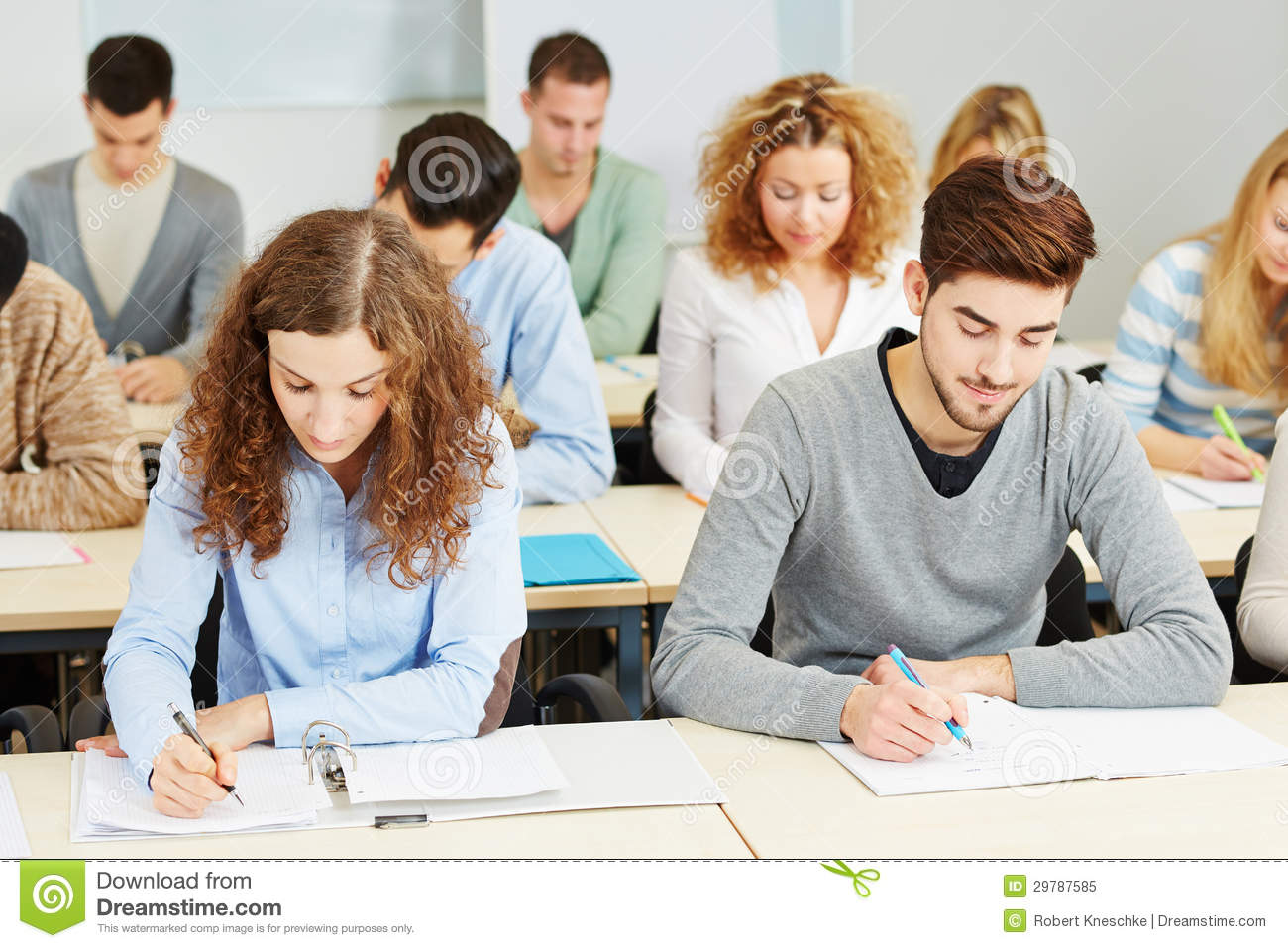 Students In Lecture In University Royalty Free Stock Photo ...